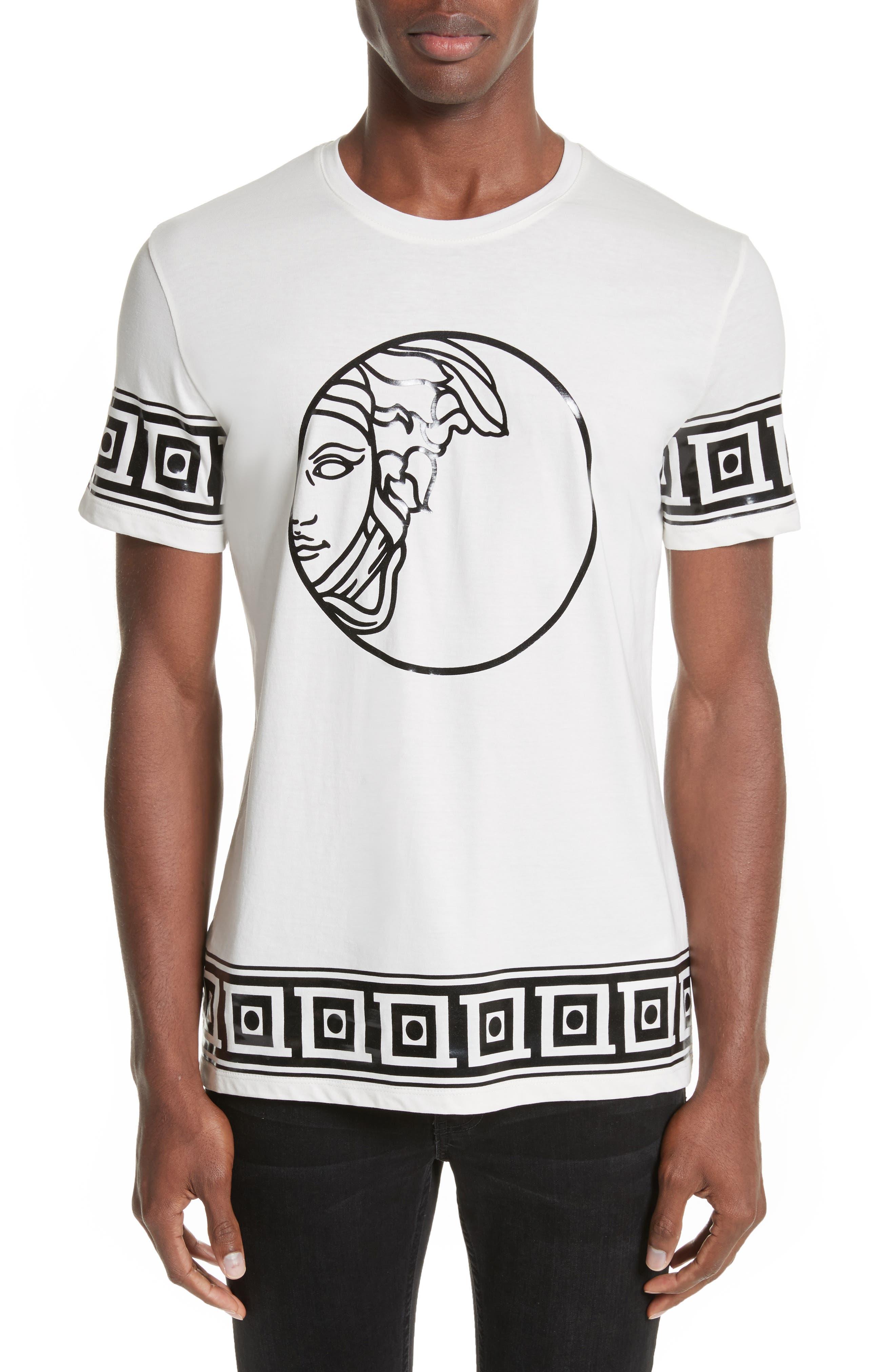 Versace Collection Tonal Medusa Print T-Shirt
