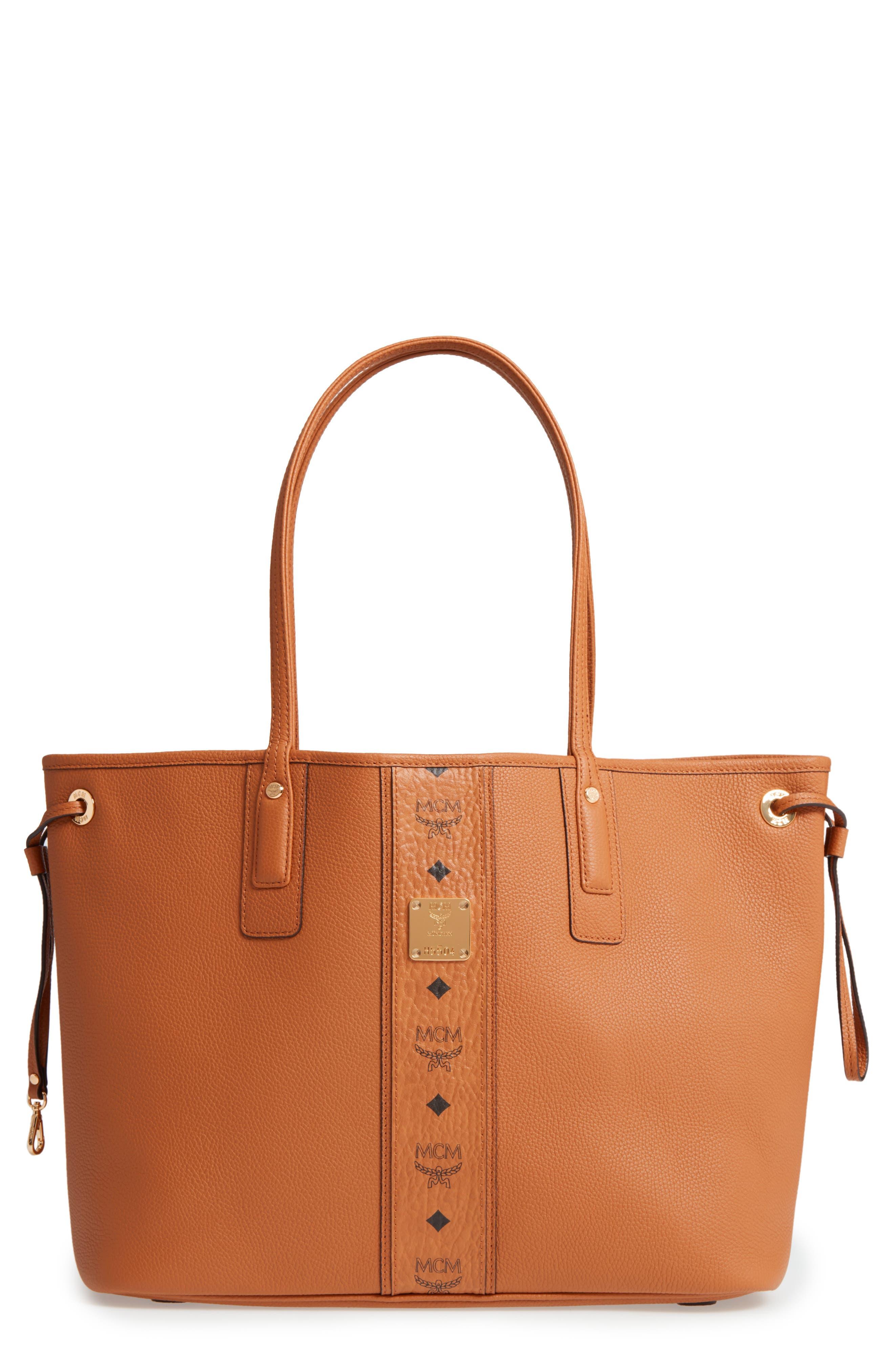 MCM Medium Liz Reversible Visetos Leather Shopper