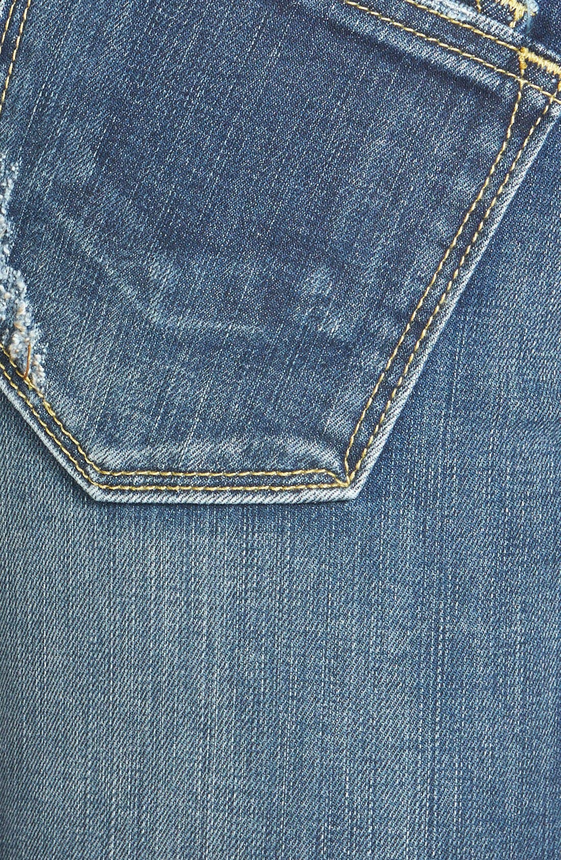 Alternate Image 3  - Vigoss 'Dublin' Distressed Skinny Jeans (Medium Wash)