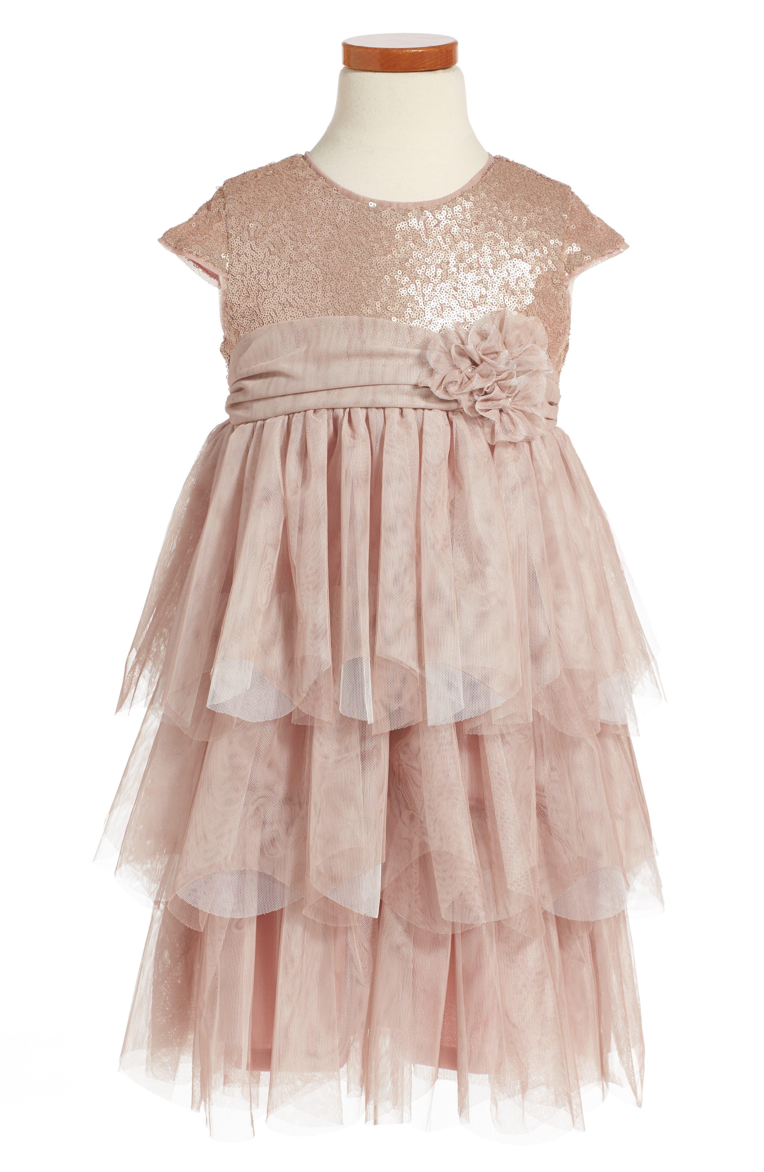 Isobella & Chloe Sophie Empire Waist Dress (Toddler Girls & Little Girls)
