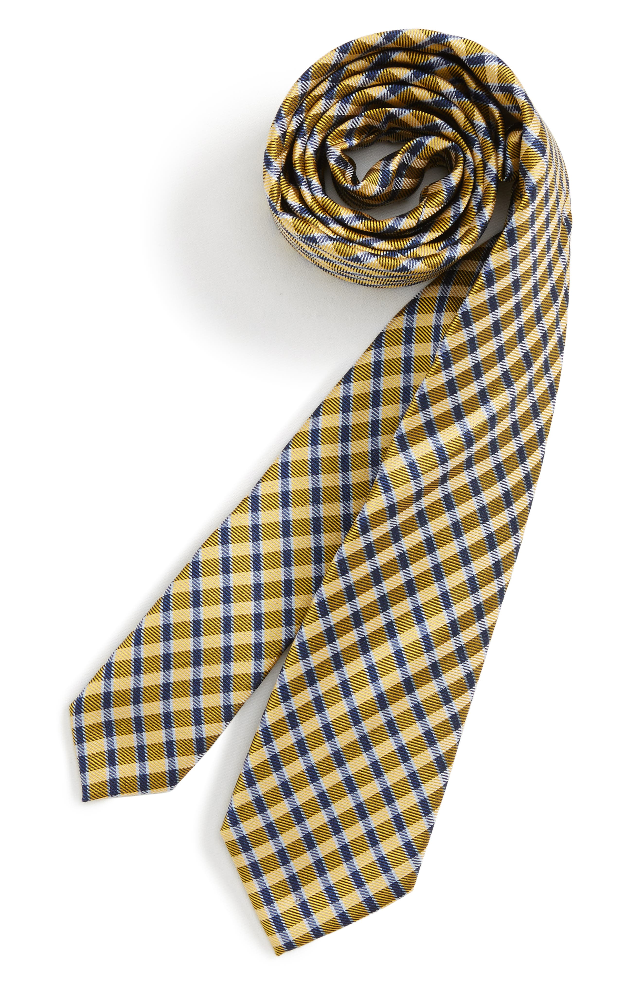 Nordstrom Plaid Silk Tie (Boys)
