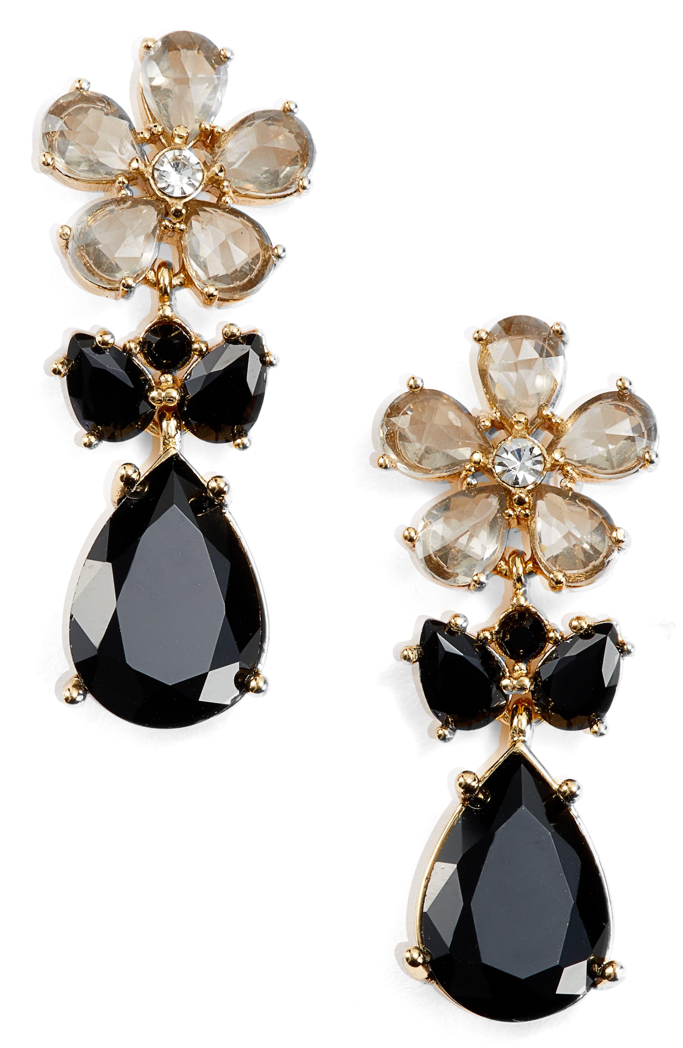 kate spade new york in full bloom cluster drop earrings