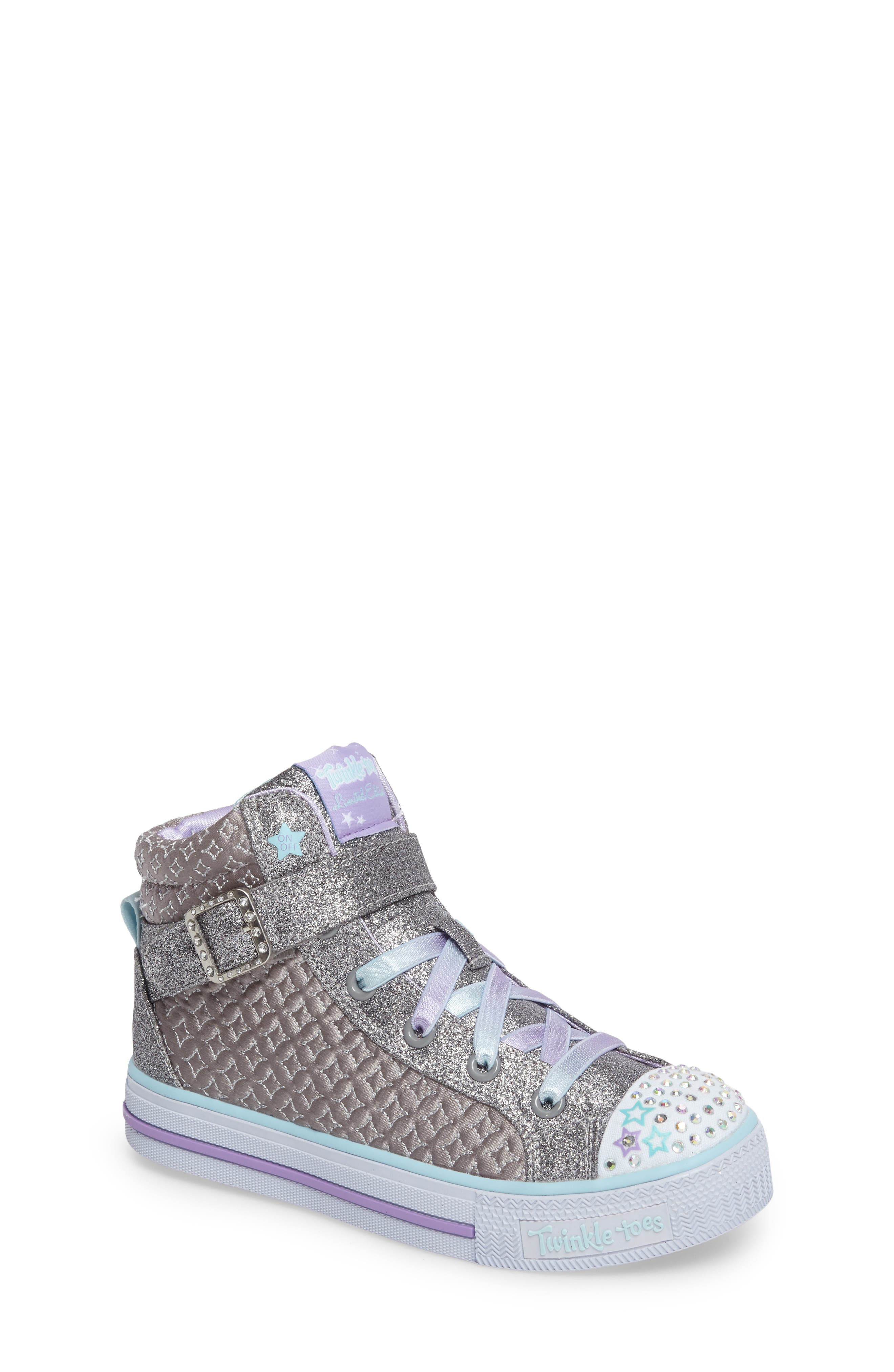 SKECHERS Twinkle Toes Shuffles High Top Sneaker (Toddler & Little Kid)