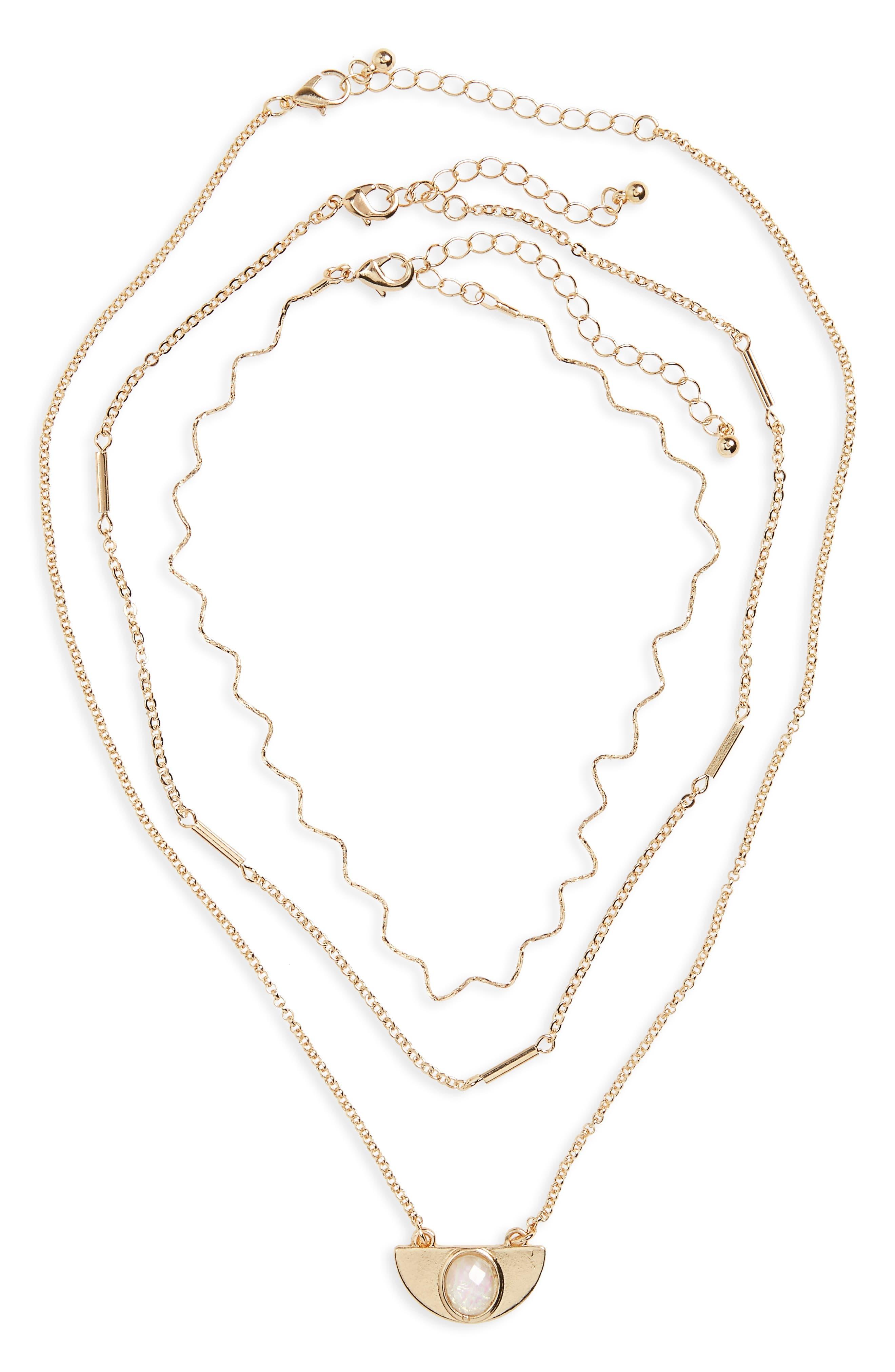 BP. Set of 3 Wave Necklaces