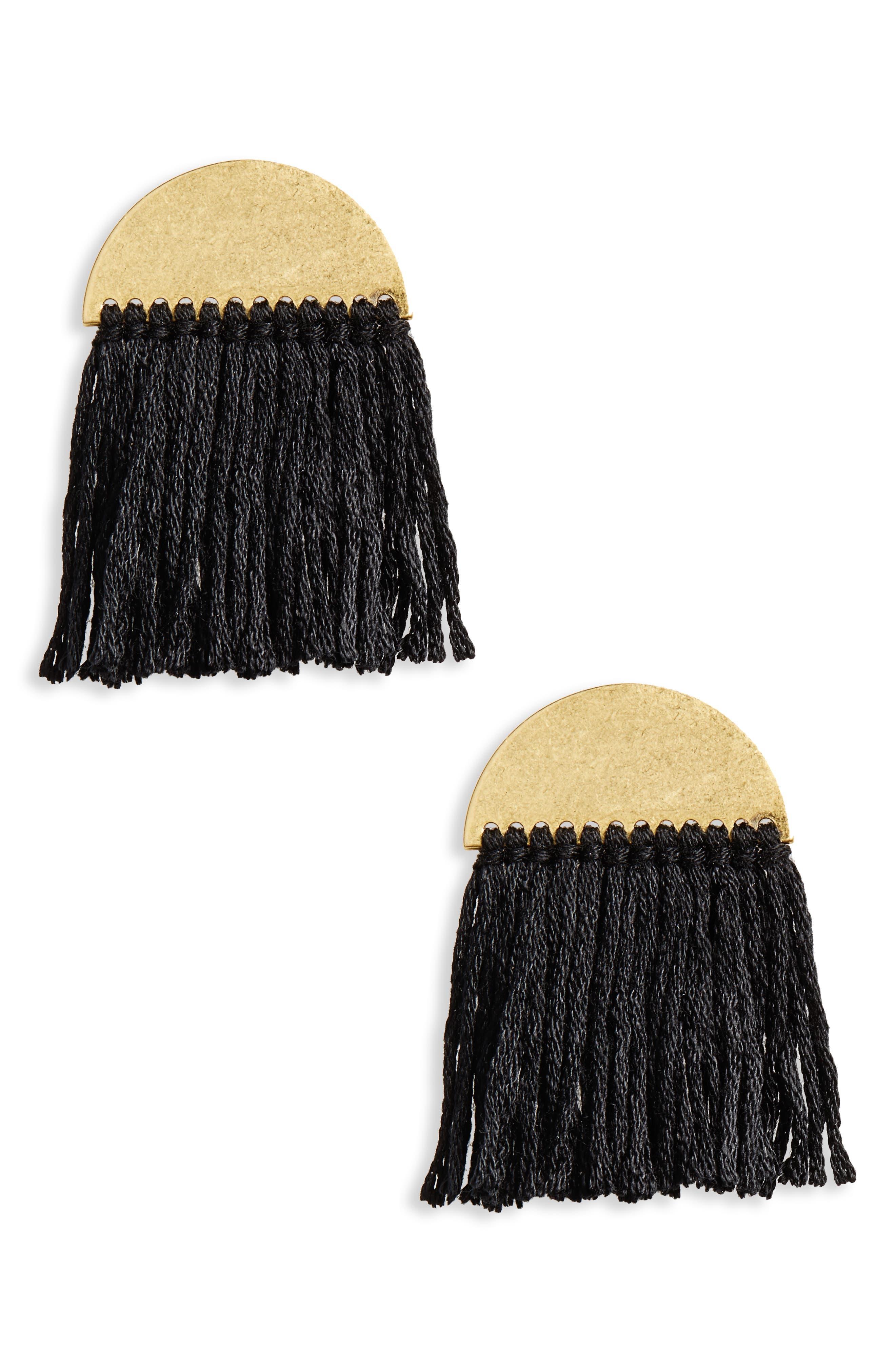 Madewell Halfmoon Fringe Earrings
