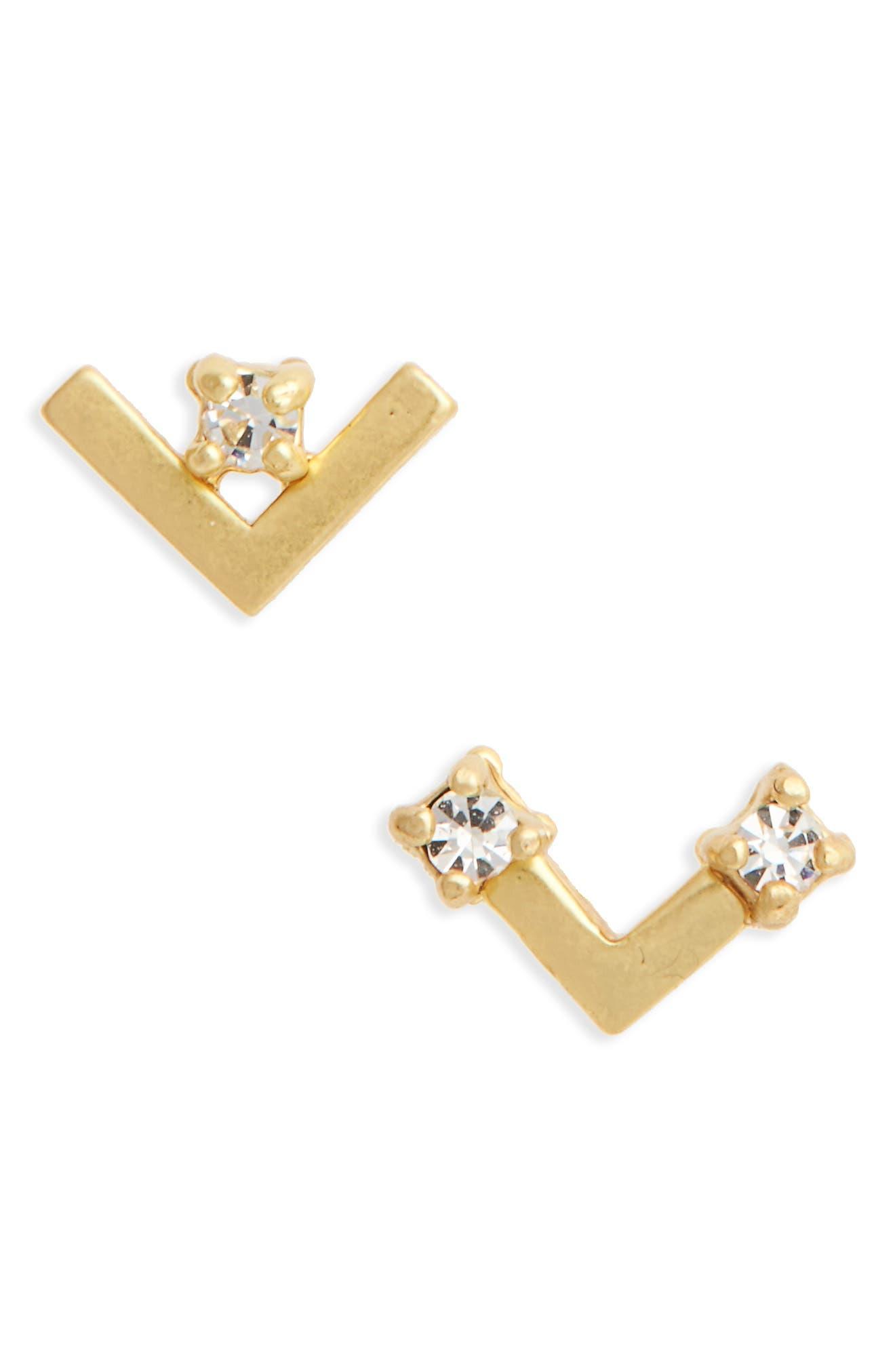 Madewell Asymmetrical Stud Earrings