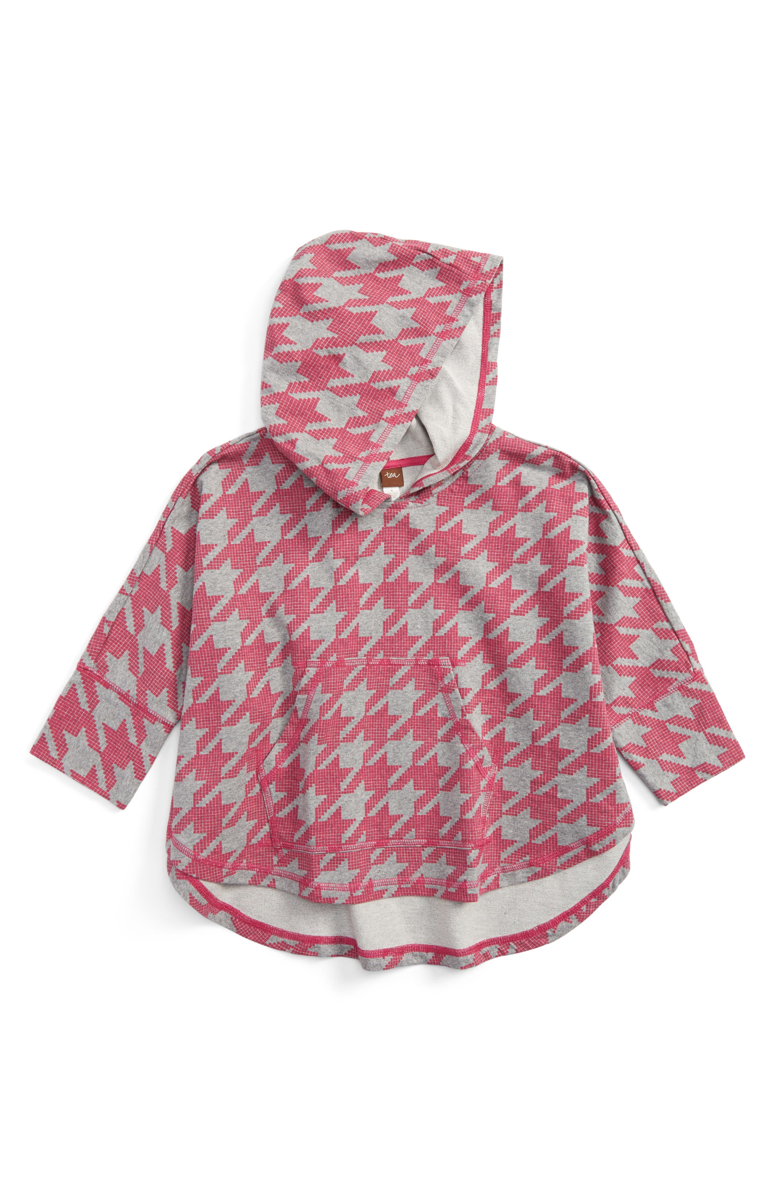 Tea Collection Houndstooth Hoodie (Toddler Girls, Little Girls & Big Girls)