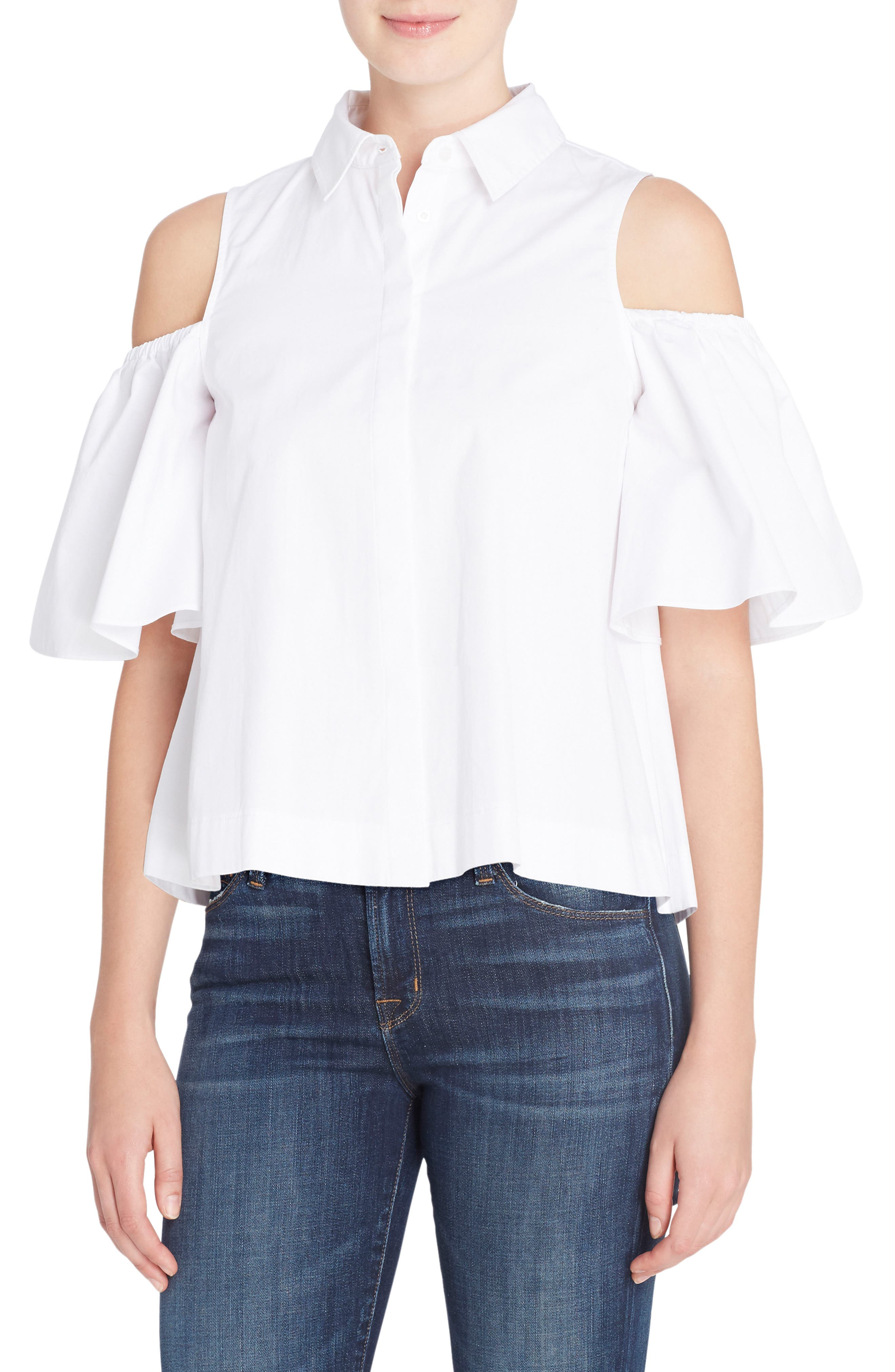 Catherine Catherine Malandrino Linette Cold Shoulder Shirt