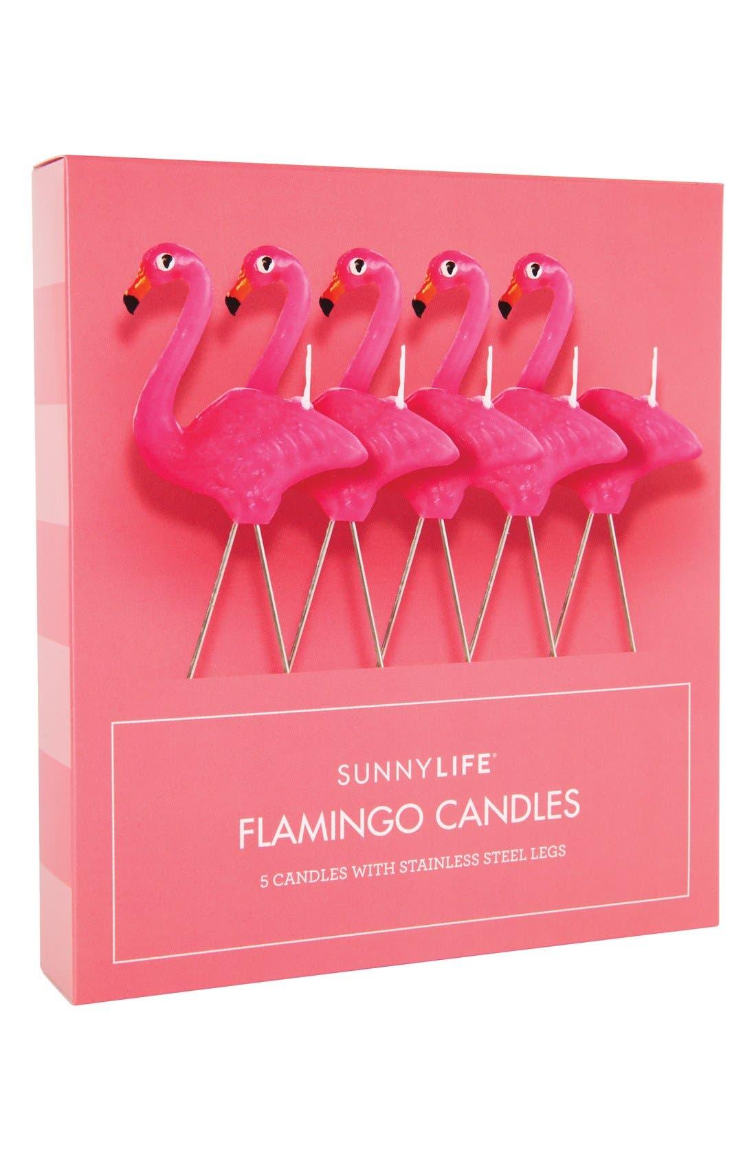 Alternate Image 1 Selected - Sunnylife Flamingo Candles (Set of 5)
