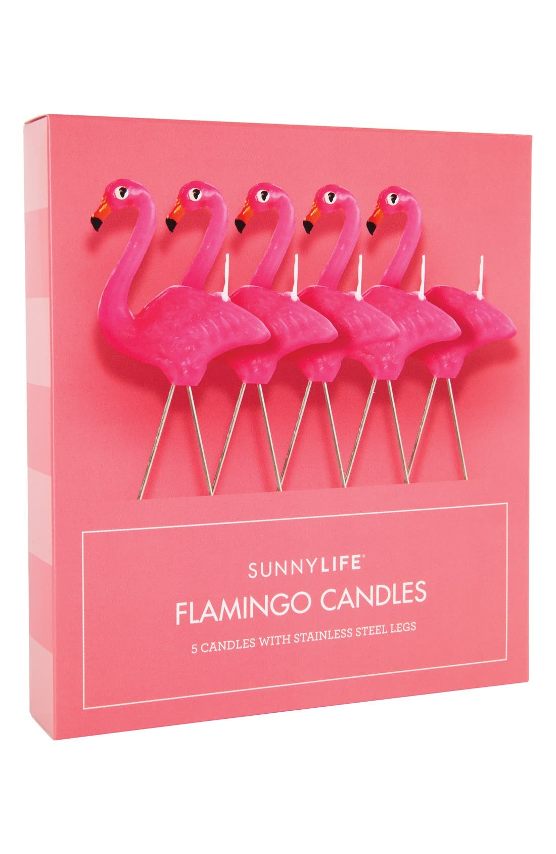 Main Image - Sunnylife Flamingo Candles (Set of 5)
