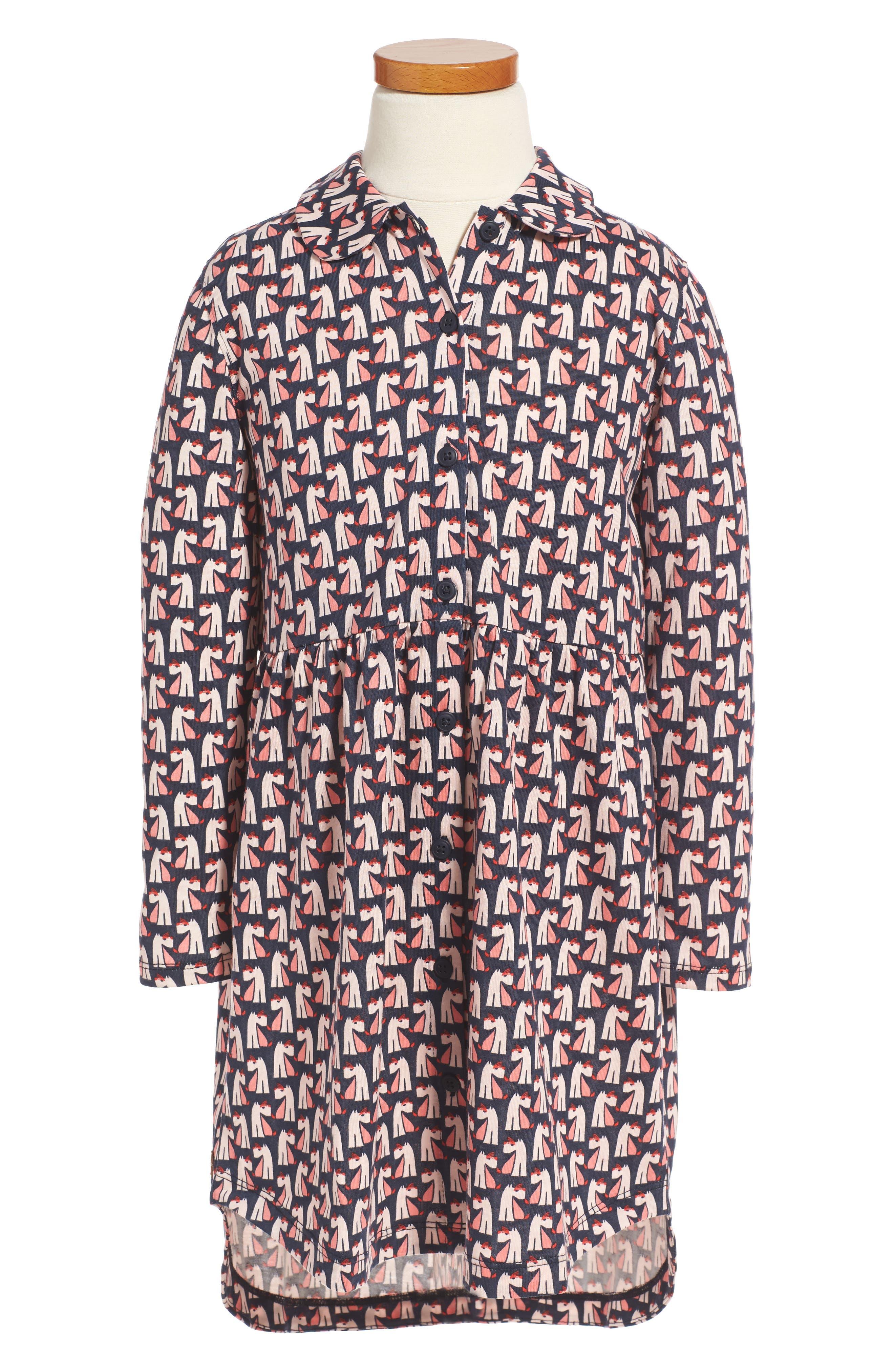 Tea Collection Scottie Dog Shirtdress (Toddler Girls, Little Girls & Big Girls)