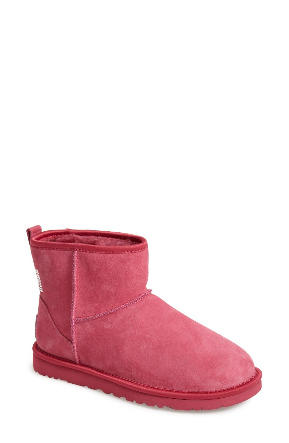 Alternate Image 1 Selected - UGG® Australia 'Classic Mini - Crystal Bow' Boot (Women)