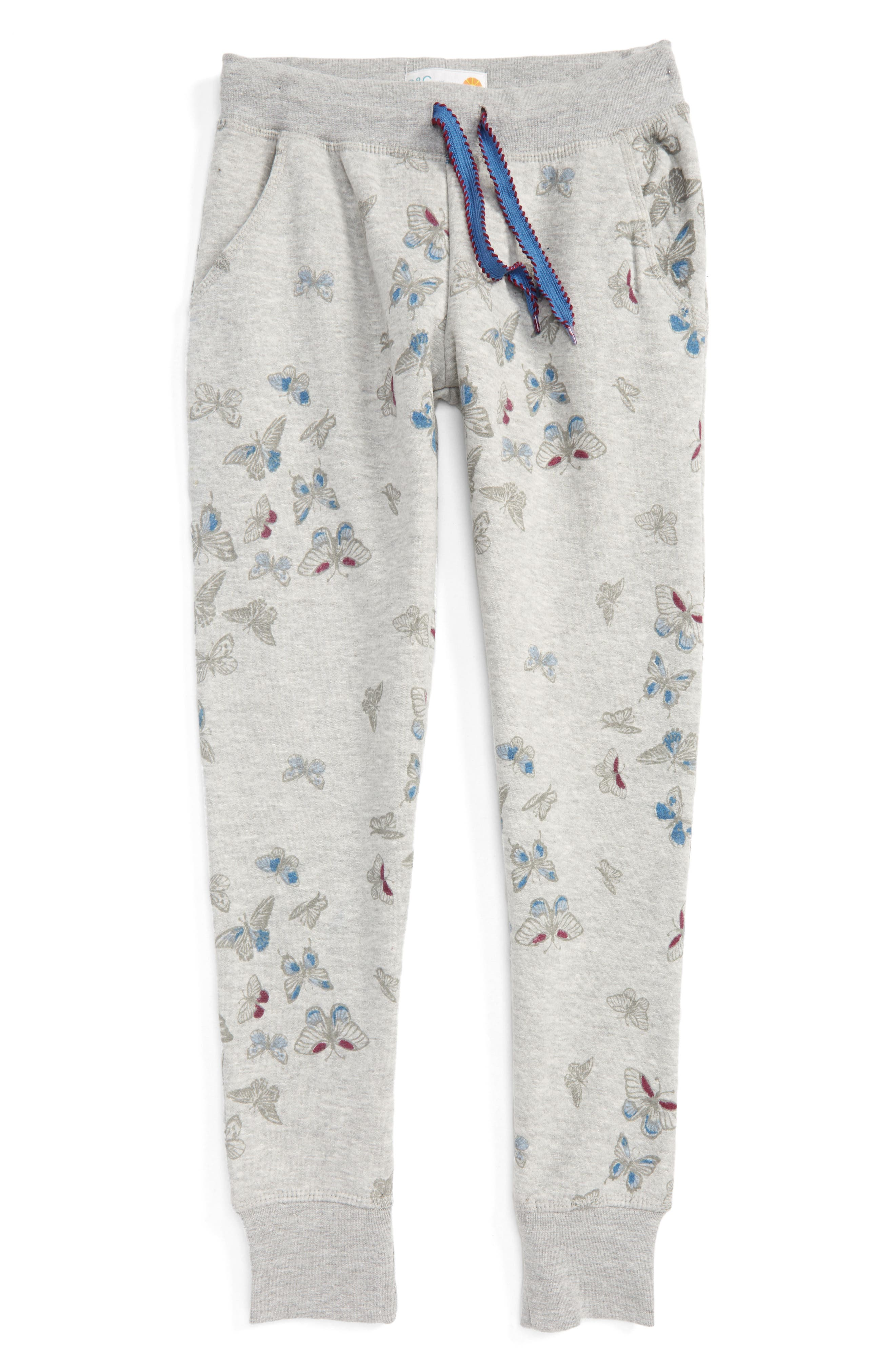 C & C California Butterfly Print Jogger Pants (Big Girls)