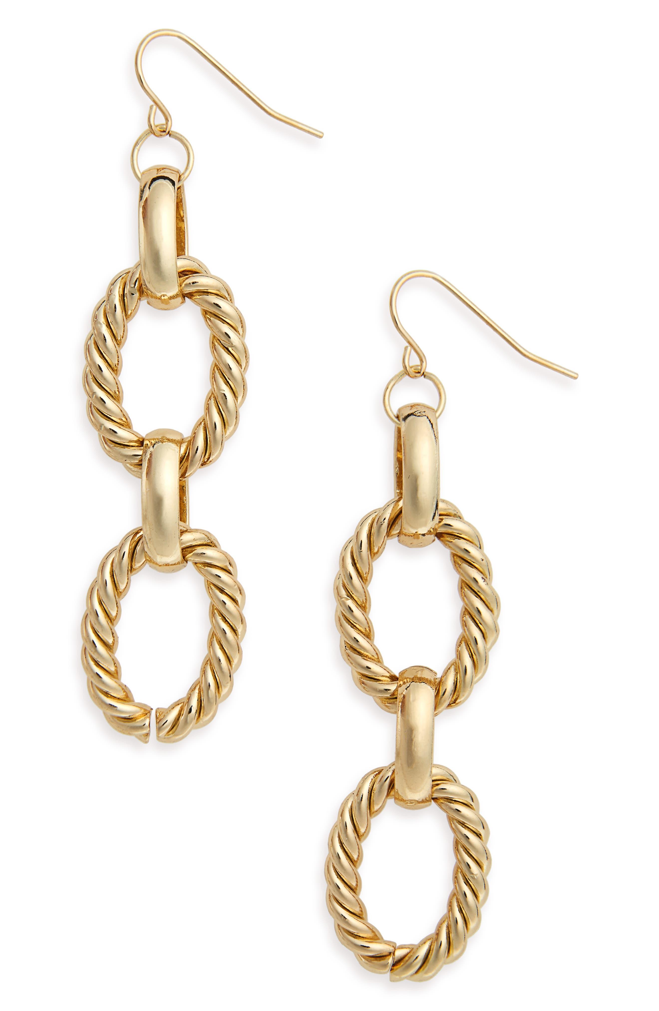 BP. Chain Link Drop Earrings