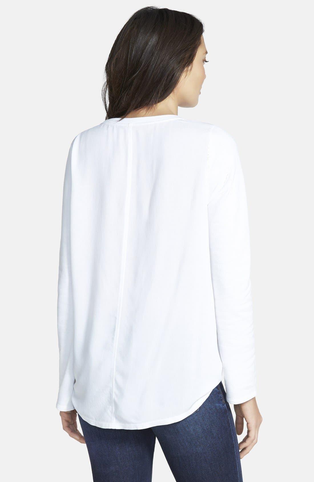 Alternate Image 2  - Stem Woven Back Sweatshirt