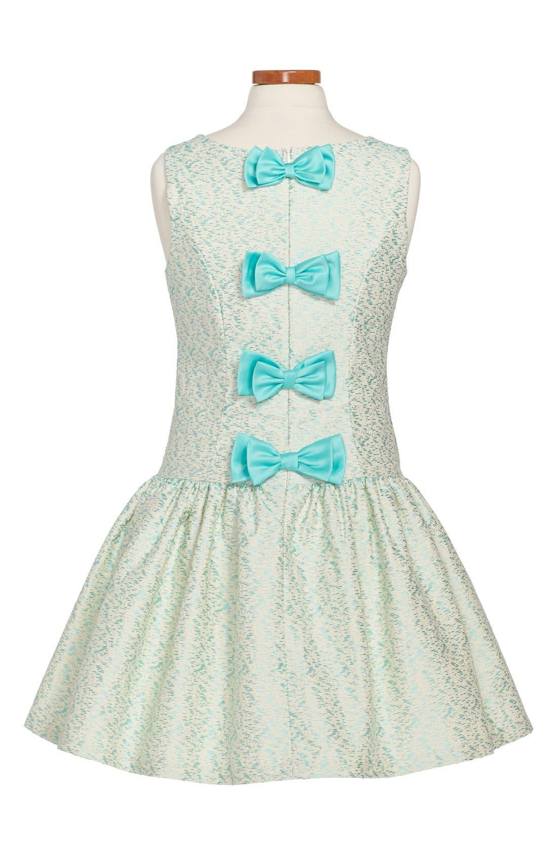 Alternate Image 2  - Iris & Ivy Sleeveless Brocade Dress (Big Girls)