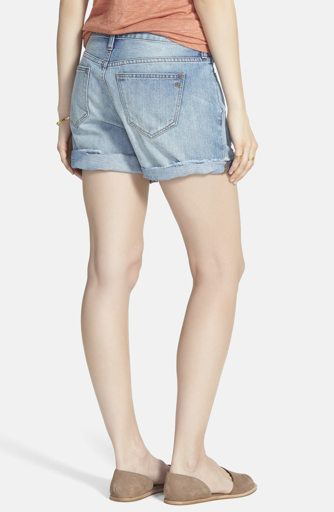 Alternate Image 2  - Madewell 'Rip & Repair' Denim Boyfriend Shorts (Conor)