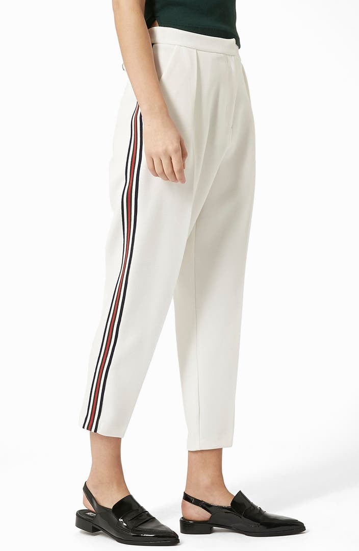 Topshop Side Stripe Peg Trousers Nordstrom
