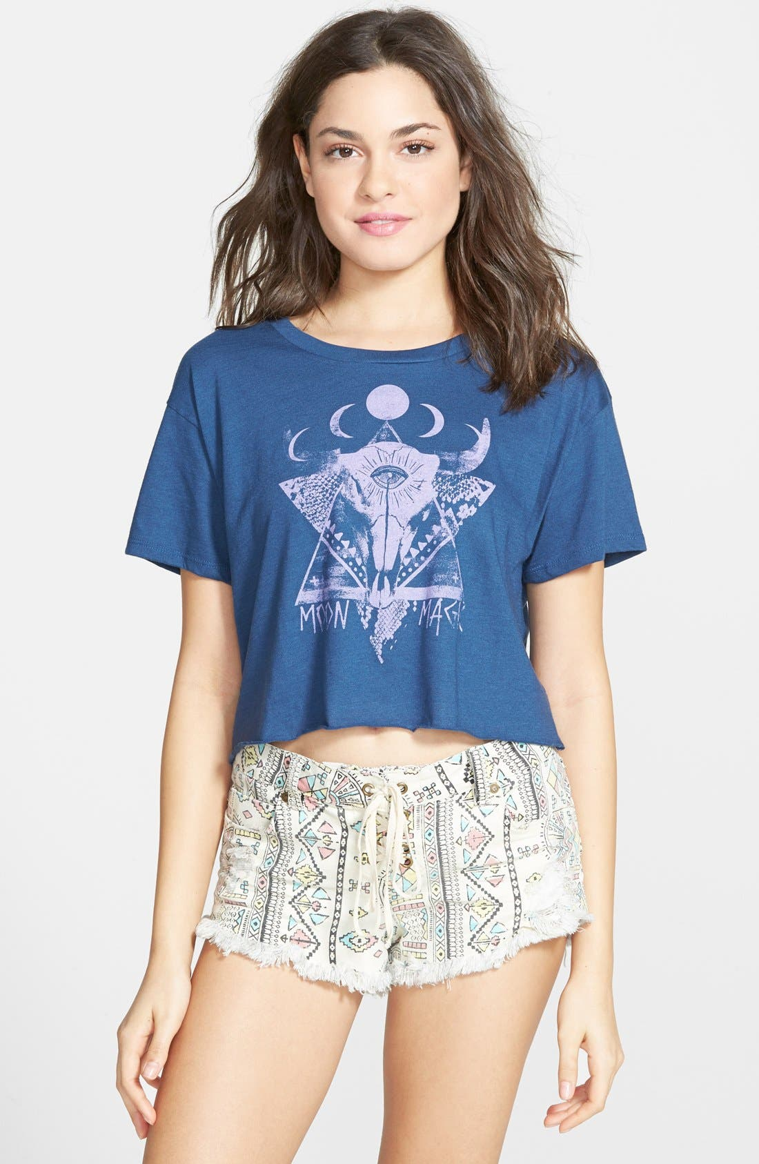 Alternate Image 1 Selected - Billabong 'Grit and Grime' Graphic Crop Tee