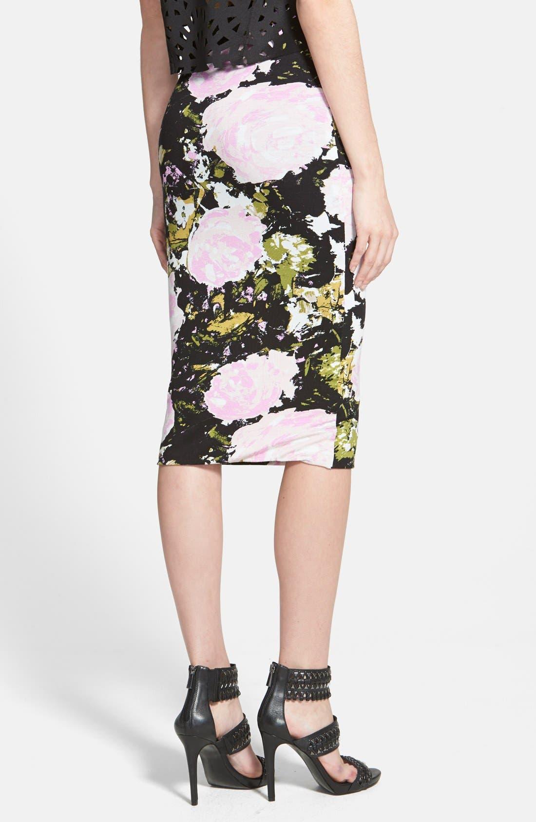 Alternate Image 2  - Leith High Waist Print Midi Skirt