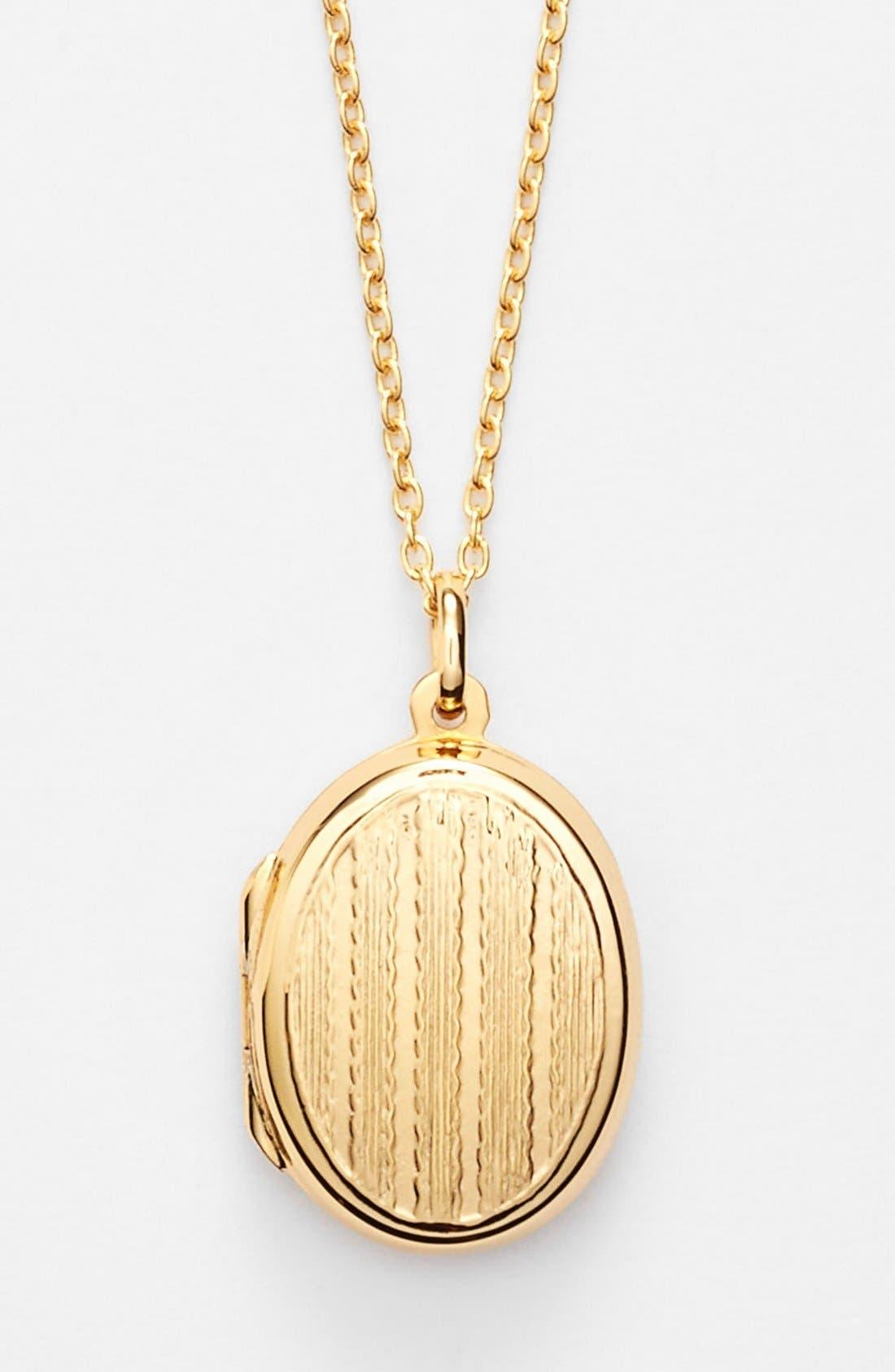 Main Image - Argento Vivo Textured Oval Locket Necklace