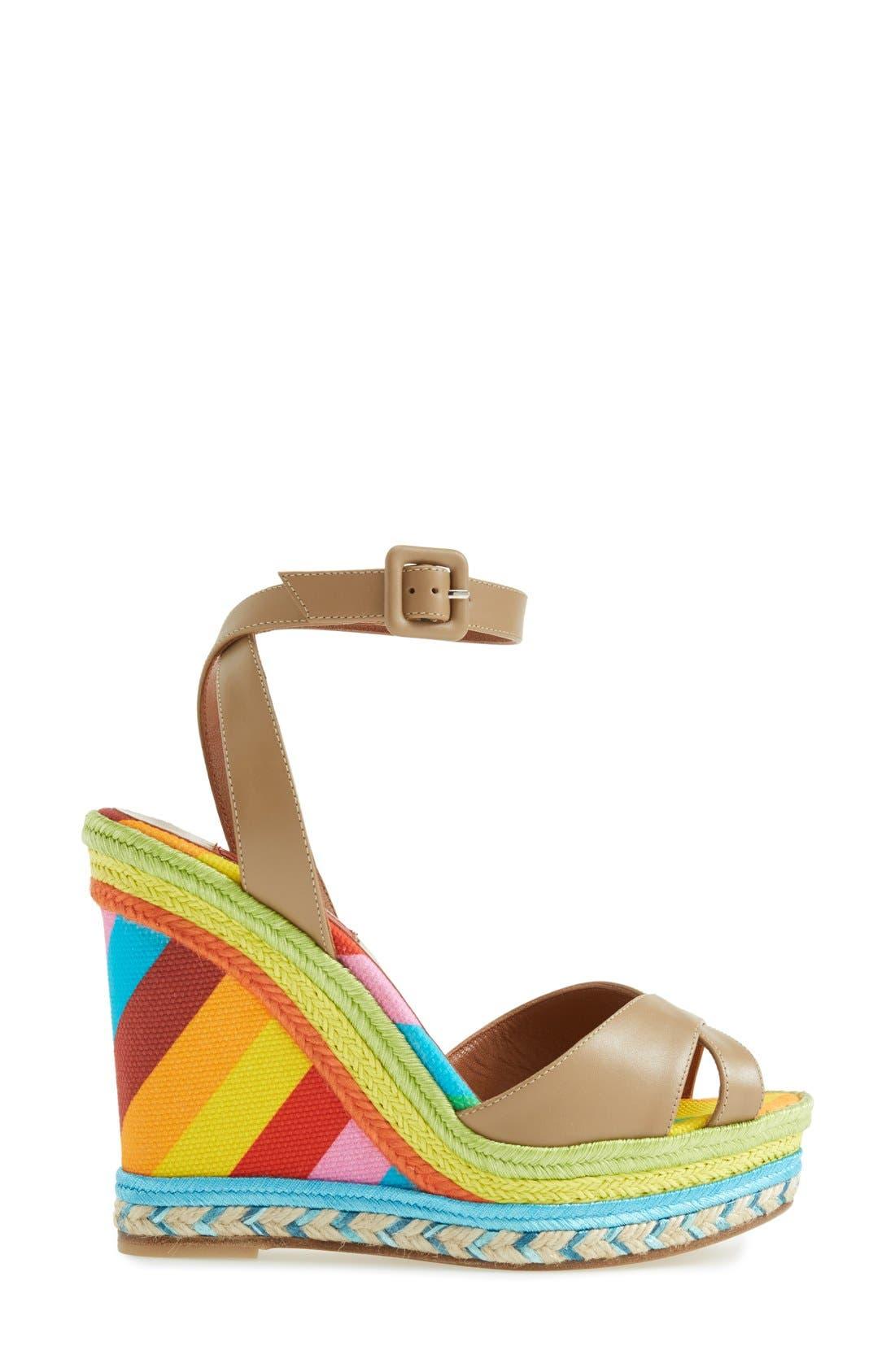 Alternate Image 4  - Valentino Espadrille Wedge Sandal (Women)