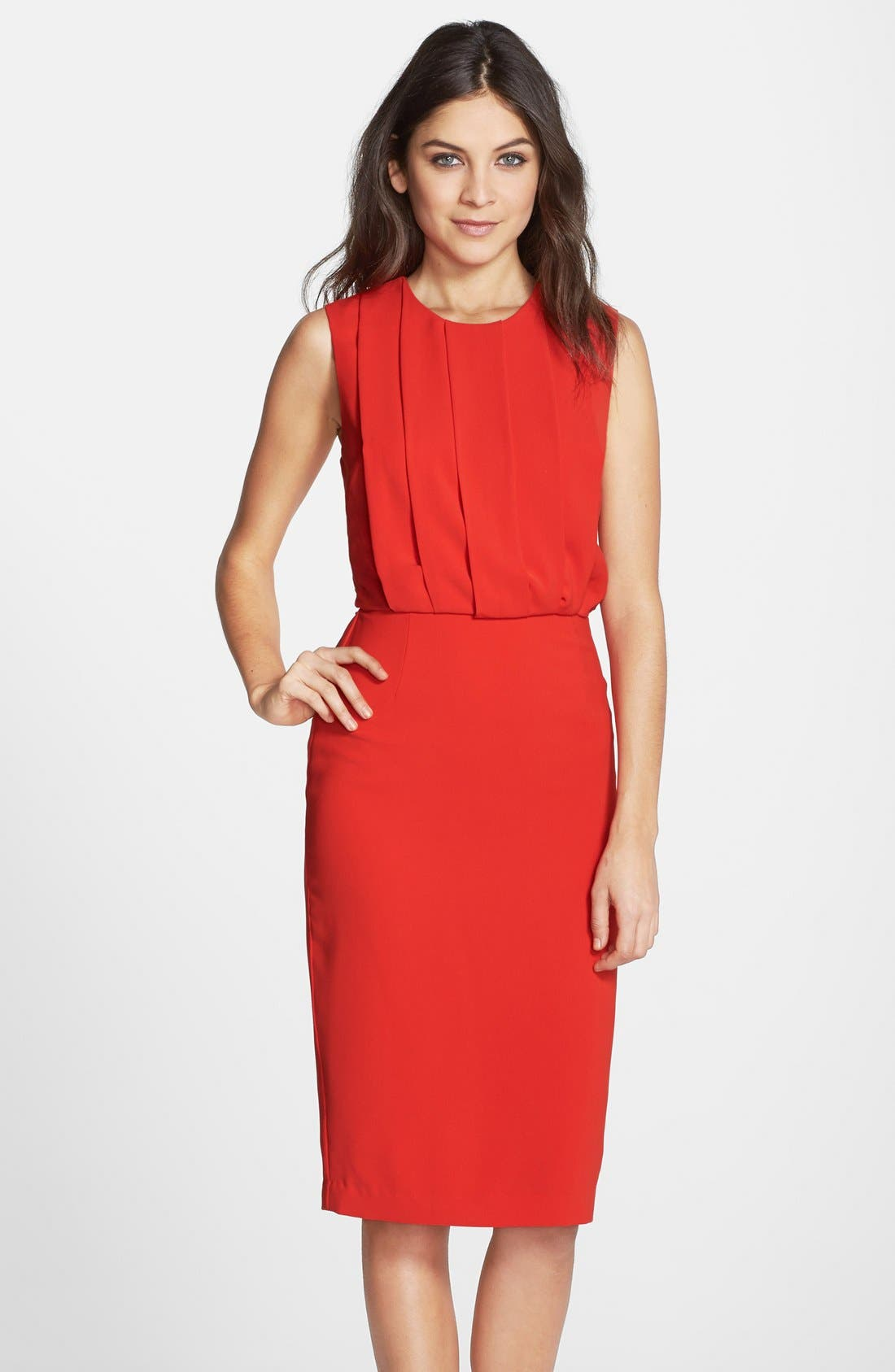 Alternate Image 1 Selected - Clove Back Cutout Pleated Blouson Dress (Nordstrom Exclusive)