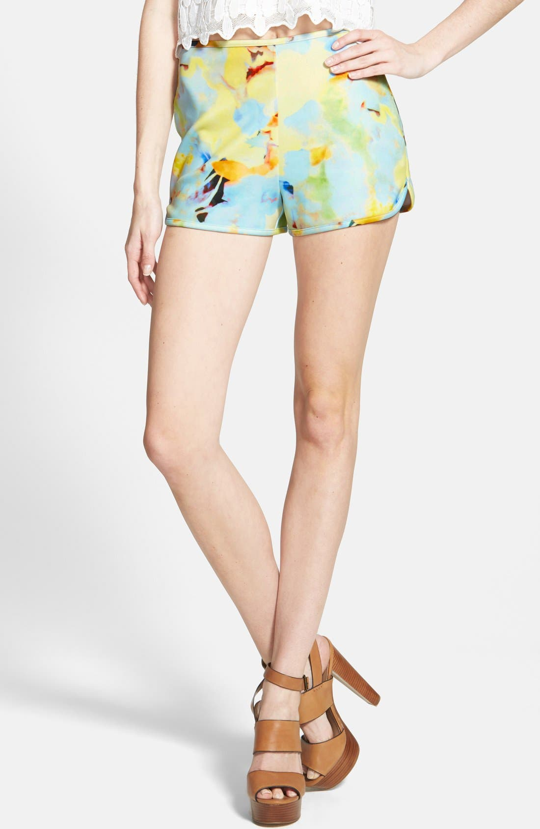 Alternate Image 1 Selected - J.O.A. Floral Print Shorts