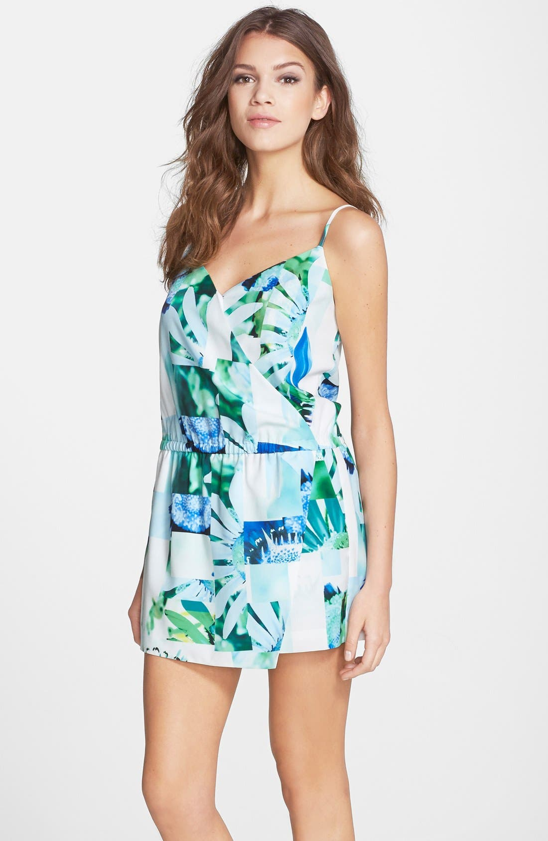 Alternate Image 1 Selected - CeCe by Cynthia Steffe 'Birdy' Faux Wrap Romper