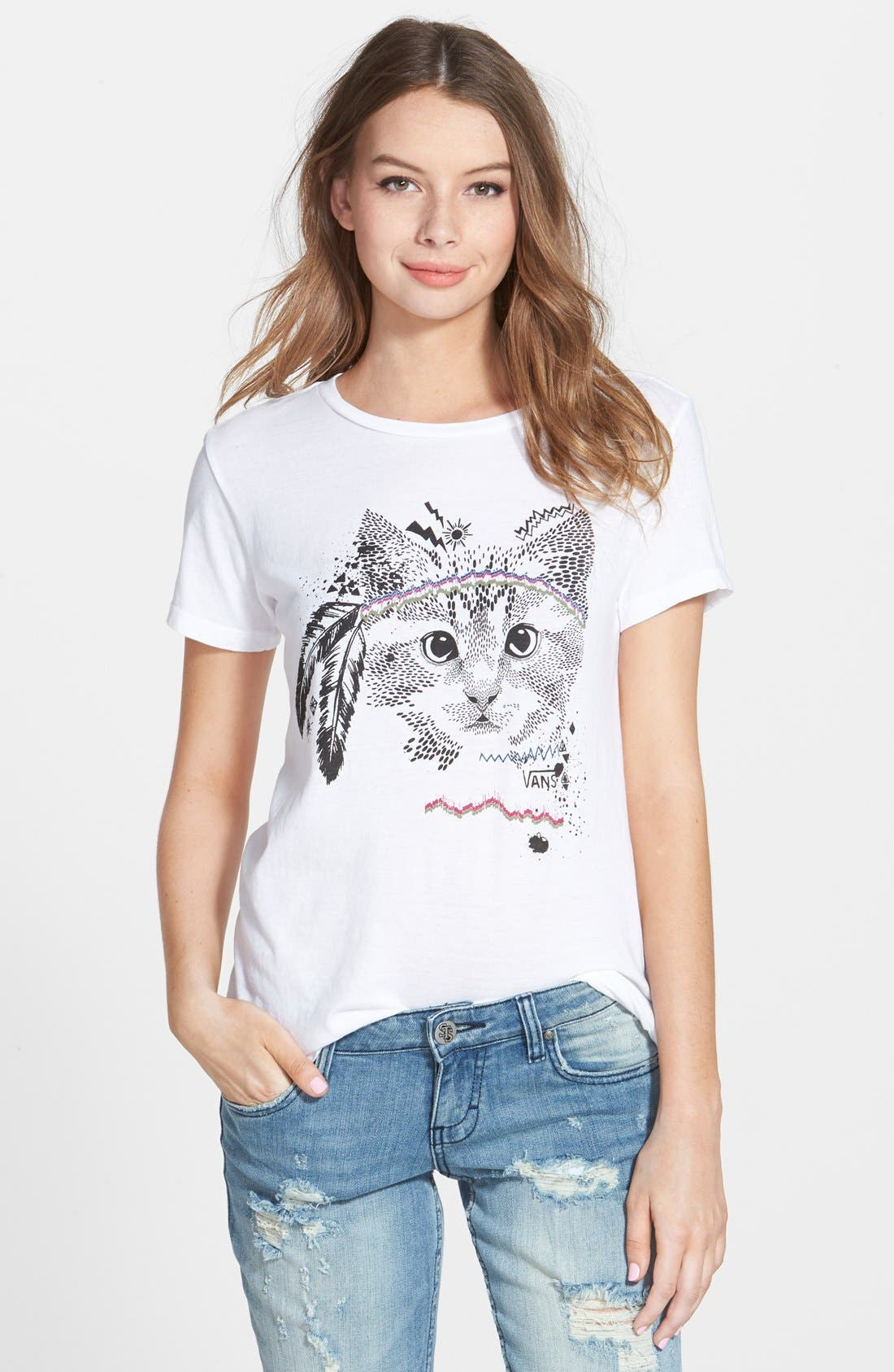 Main Image - Vans Cat Graphic Tee (Juniors)
