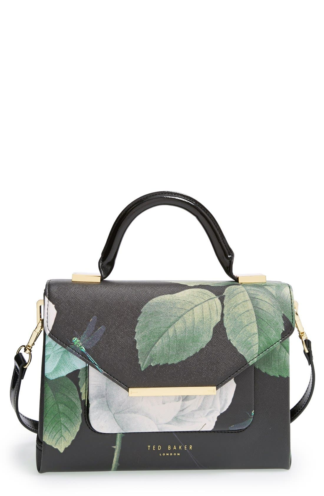 Main Image - Ted Baker London 'Distinguish Rose' Crosshatch Shopper