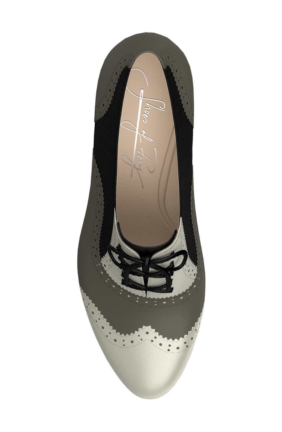 Alternate Image 2  - Shoes of Prey Colorblock Genuine Calf Hair Oxford Bootie (Women)