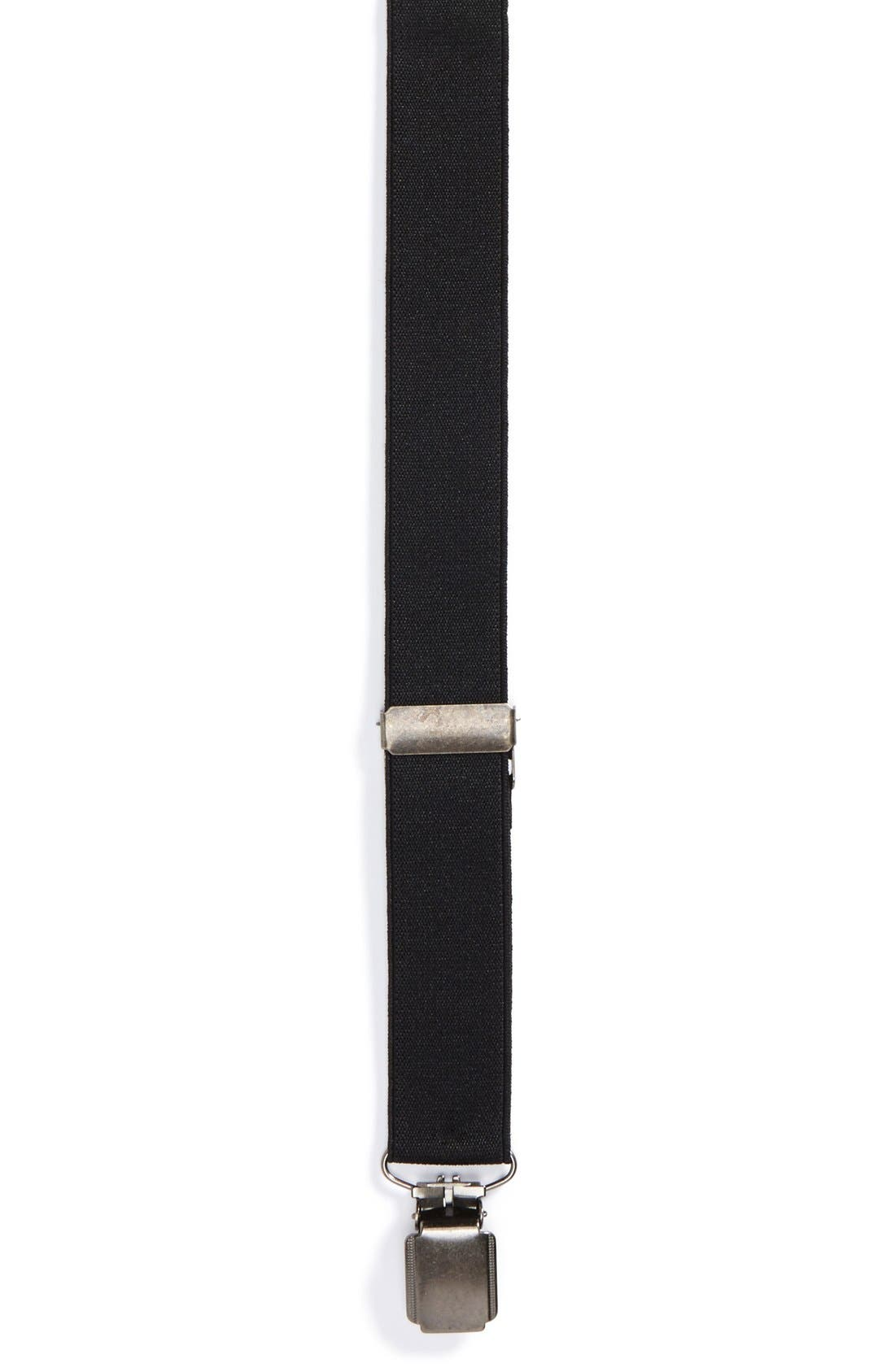 Alternate Image 1 Selected - Topman Black Skinny Suspenders