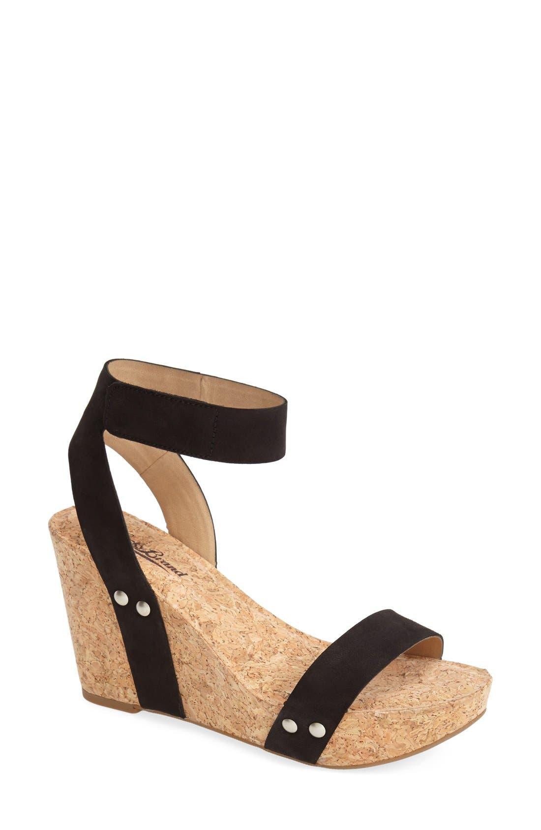 Alternate Image 1 Selected - Lucky Brand 'McDowell' Wedge Sandal (Women)