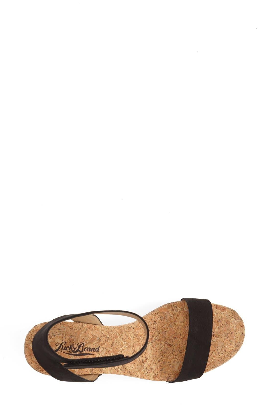 Alternate Image 3  - Lucky Brand 'McDowell' Wedge Sandal (Women)