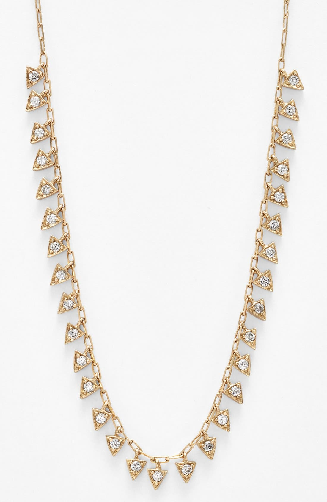 Main Image - Melinda Maria 'Pyramid - Mini Fringe' Frontal Necklace