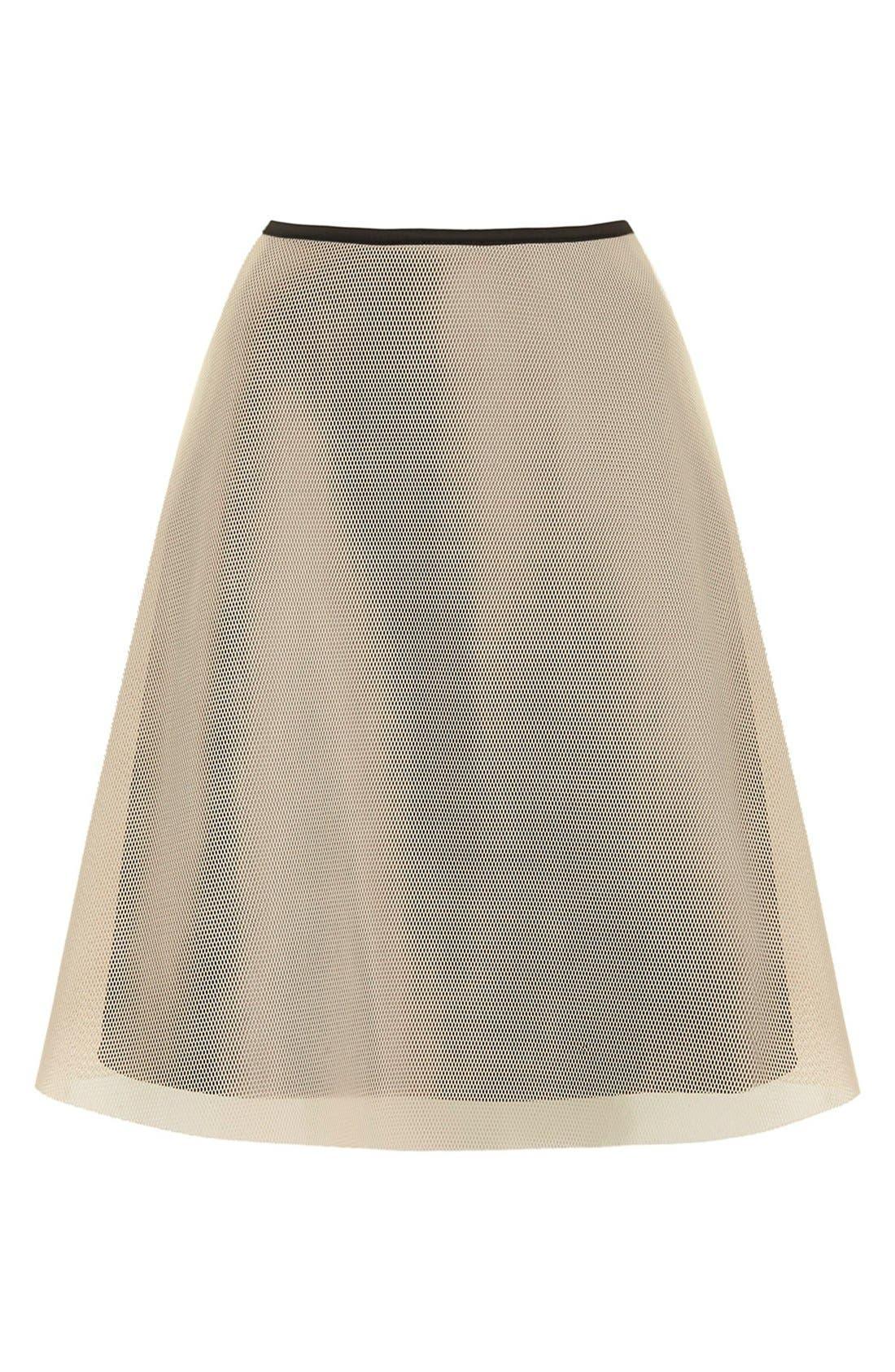 Alternate Image 3  - Topshop Ruffled A-Line Mesh Skirt