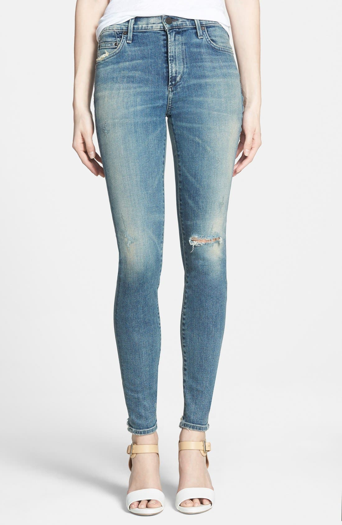 Alternate Image 1 Selected - Citizens of Humanity 'Rocket' High Rise Skinny Jeans (Stage Coach)