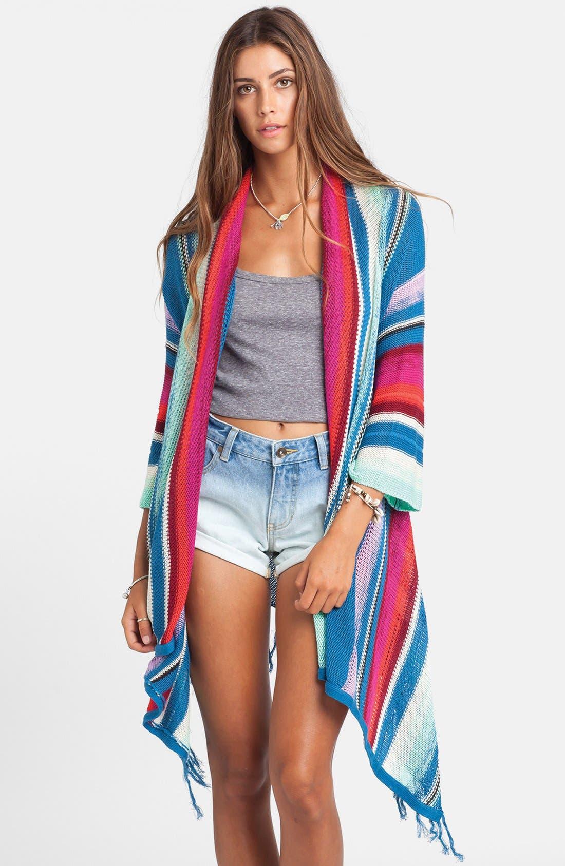 Alternate Image 1 Selected - Billabong 'Beach Rambler' Stripe Cardigan