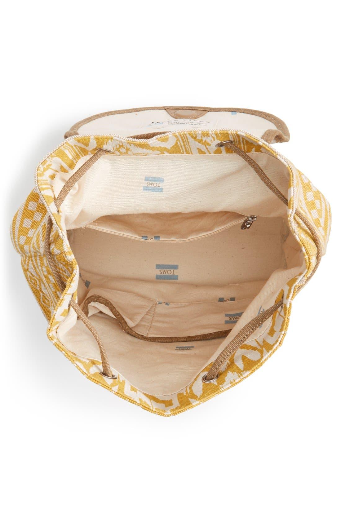 Alternate Image 4  - TOMS 'Traveler' Canvas Backpack