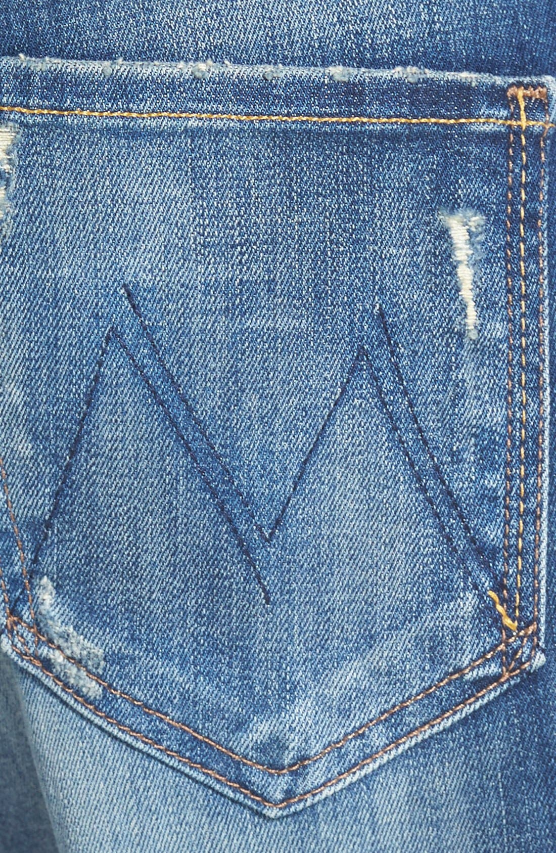 Alternate Image 3  - MOTHER 'The Drop Out' Jeans (Tequila Truth)