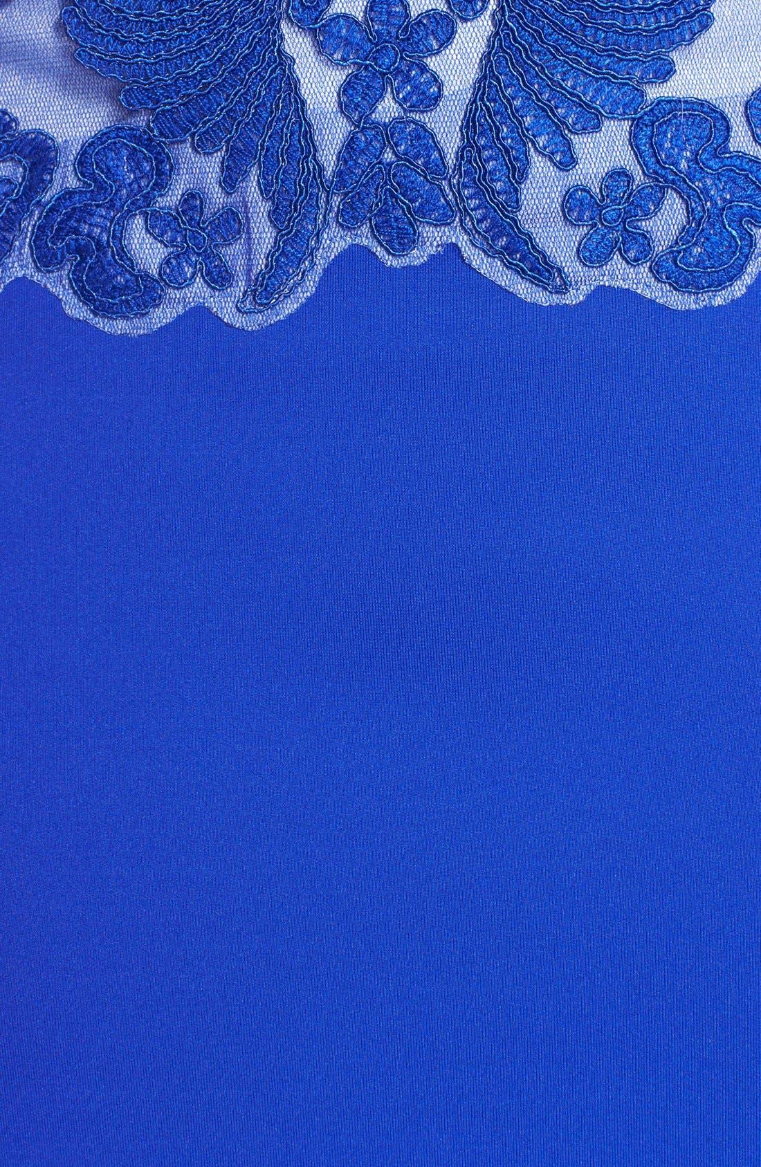 Alternate Image 4  - Tadashi Shoji Belted Embroidered Neoprene Sheath Dress (Regular & Petite)