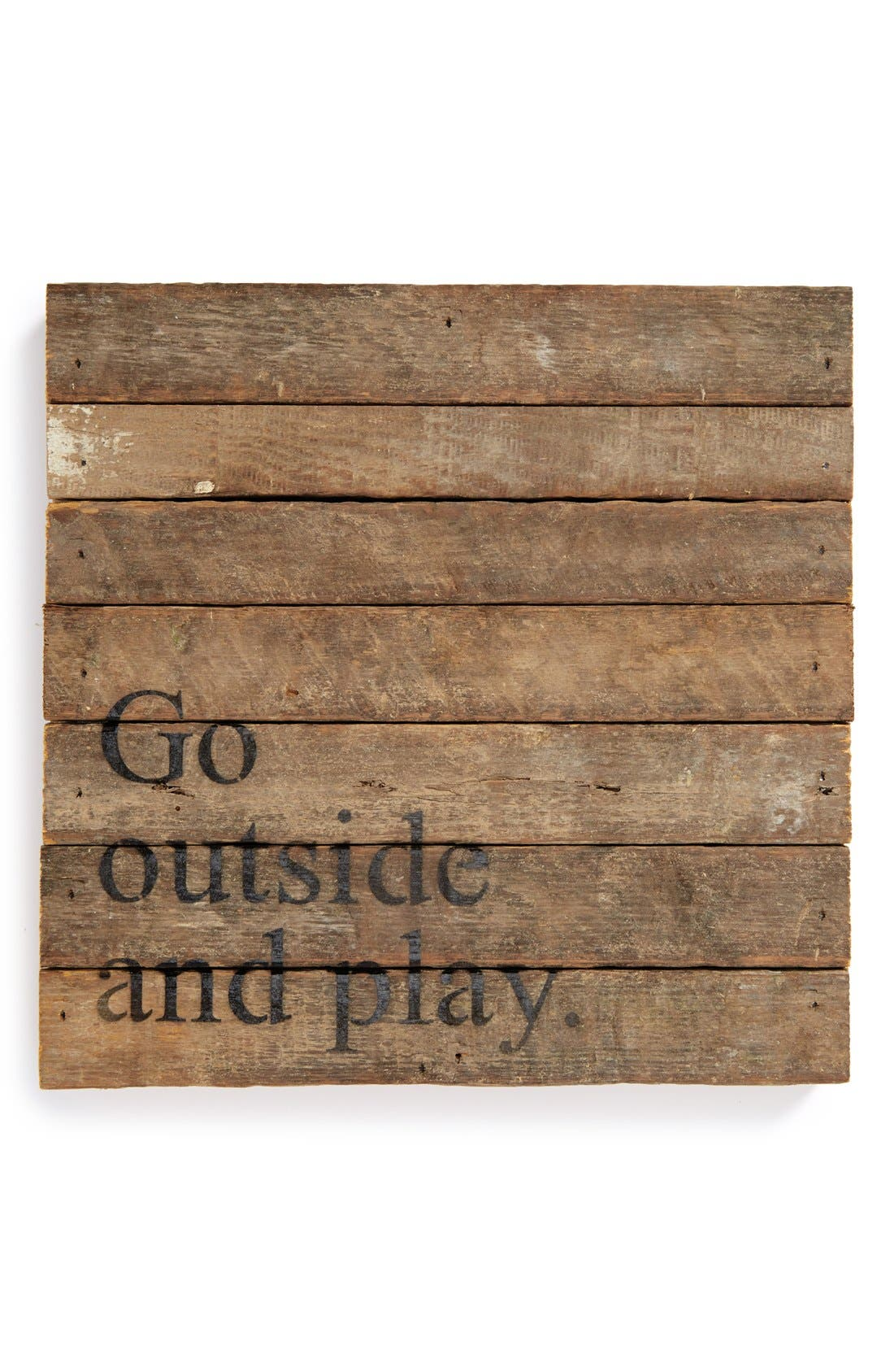 Main Image - Second Nature By Hand 'Go outside and Play' Repurposed Wood Wall Art