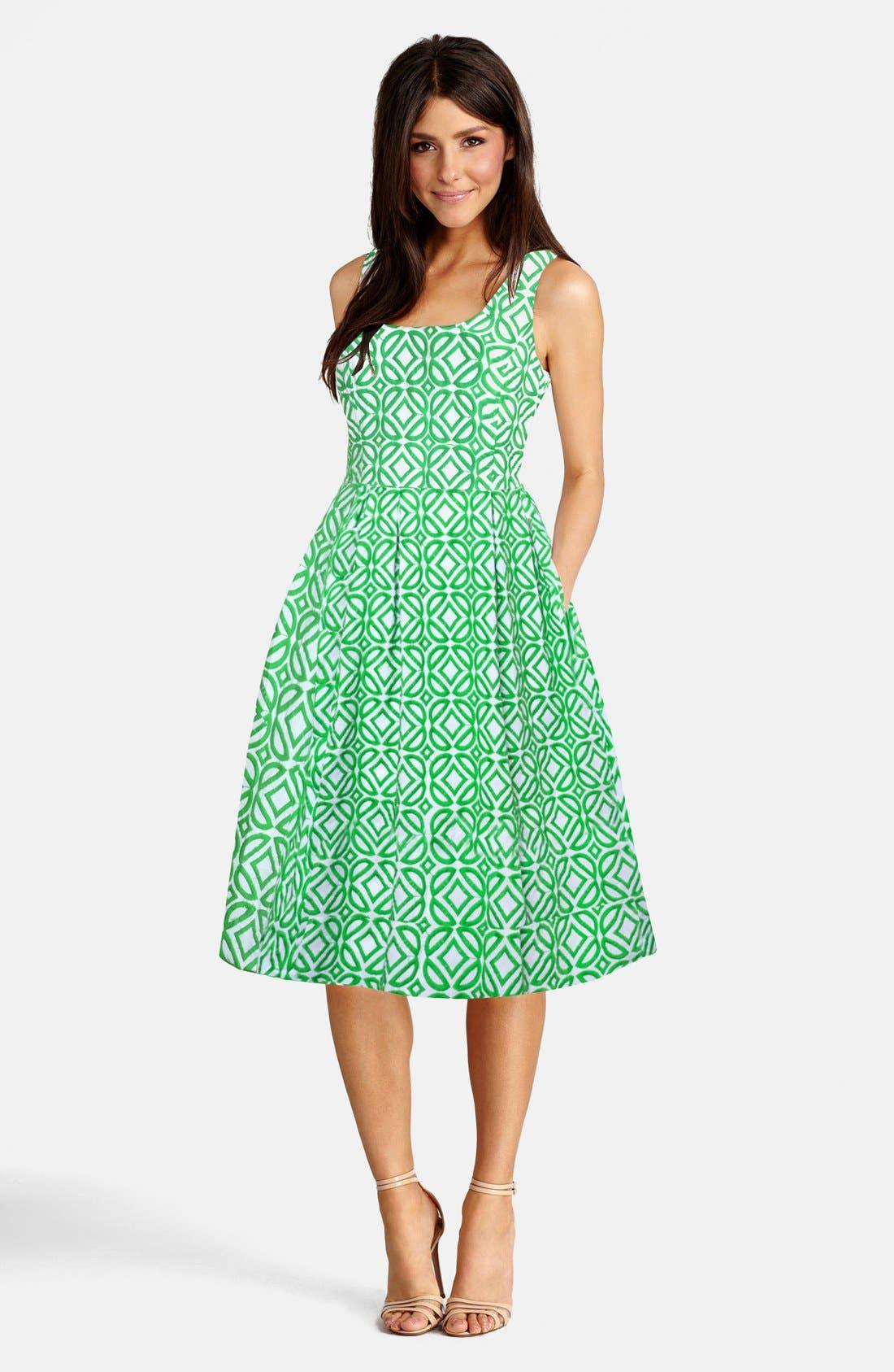 Alternate Image 3  - Donna Morgan Jacquard Fit & Flare Dress