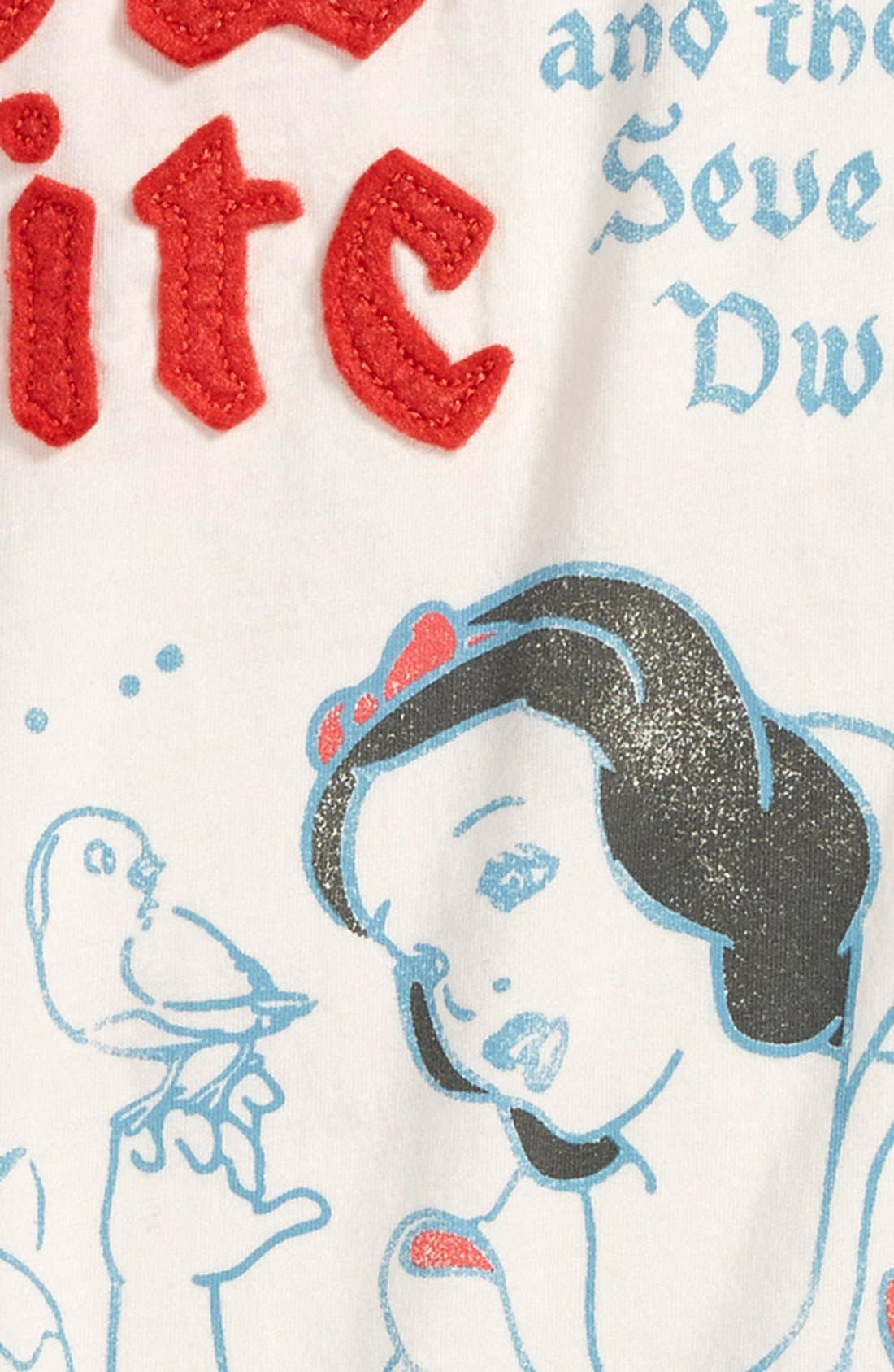 Alternate Image 3  - Peek 'Disney® - Snow White & the Seven Dwarves' Graphic Pima Cotton Tee (Baby Girls)