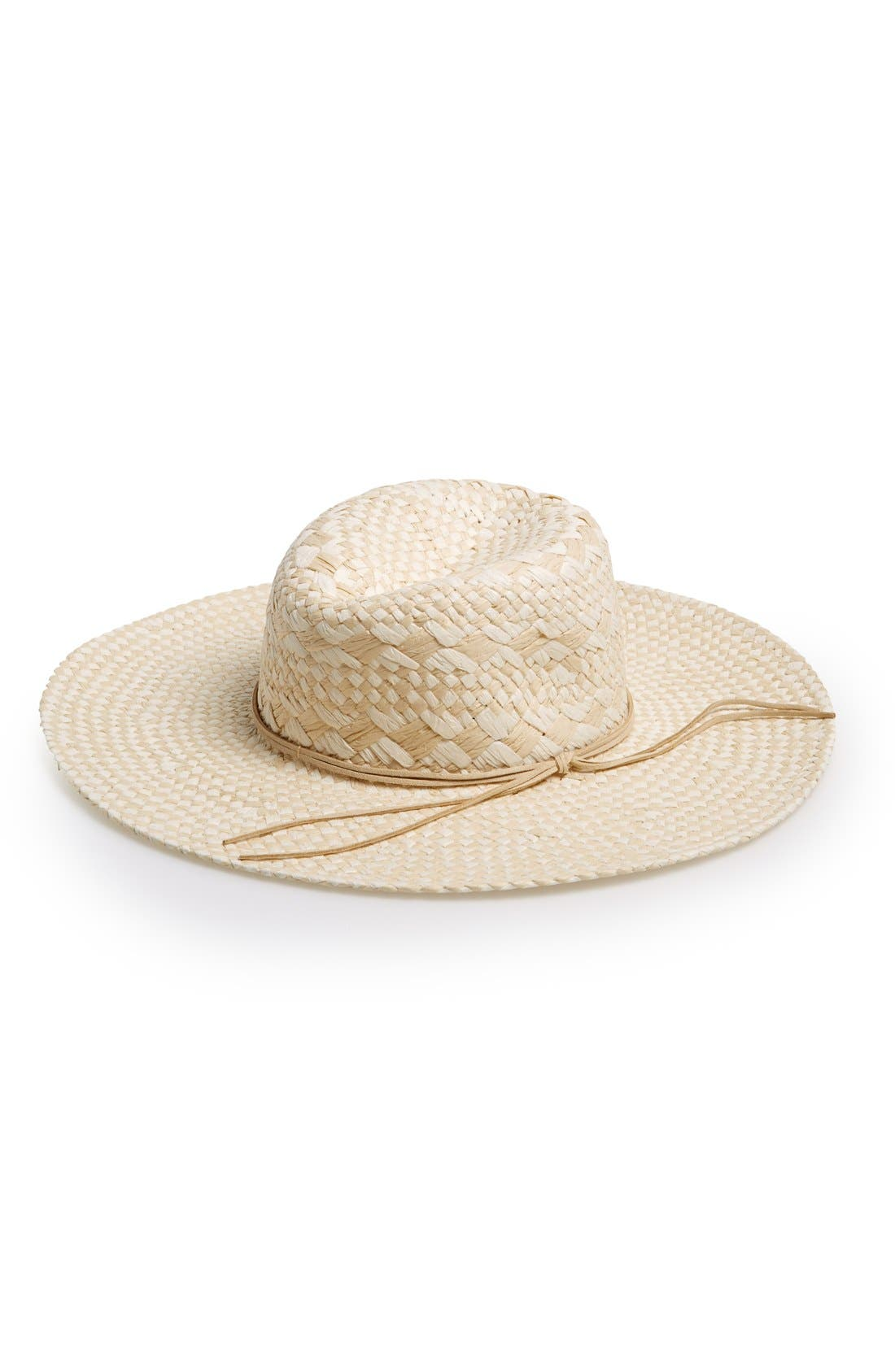 Main Image - David & Young Diamond Weave Floppy Straw Hat