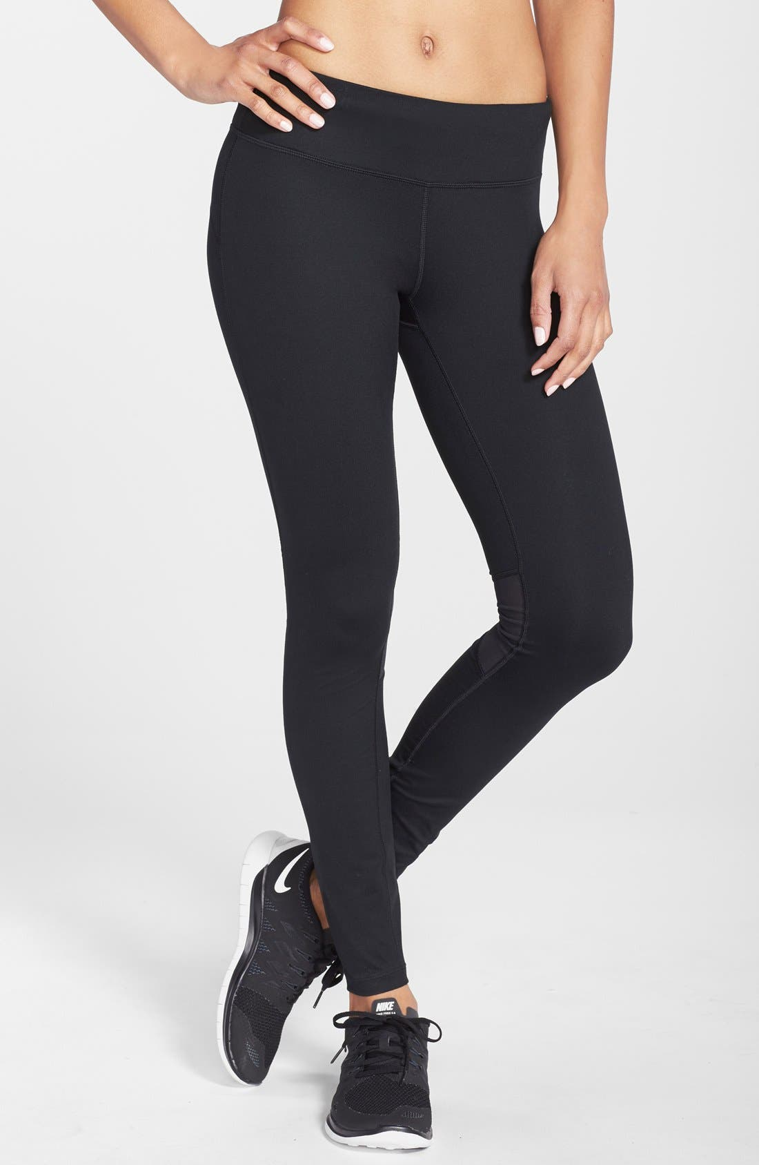 NIKE 'Epic Run' Mesh Insert Dri-FIT Tights