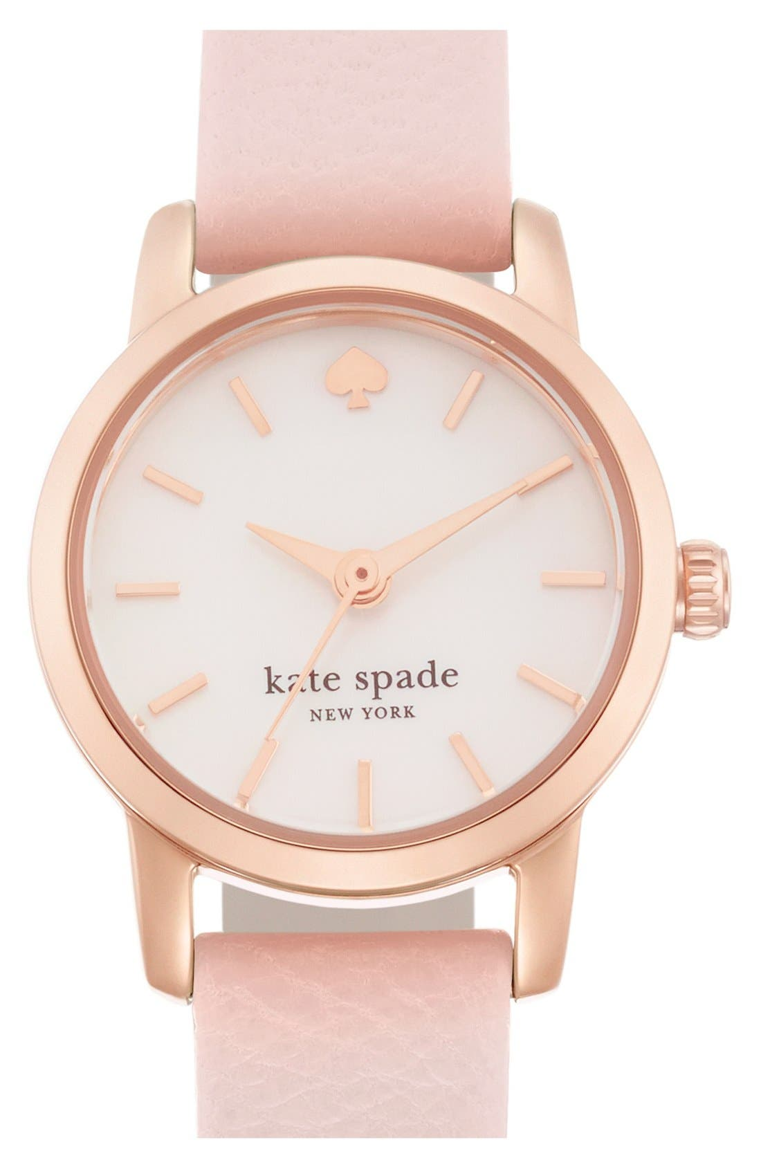 Main Image - kate spade new york 'tiny metro' leather strap watch, 20mm