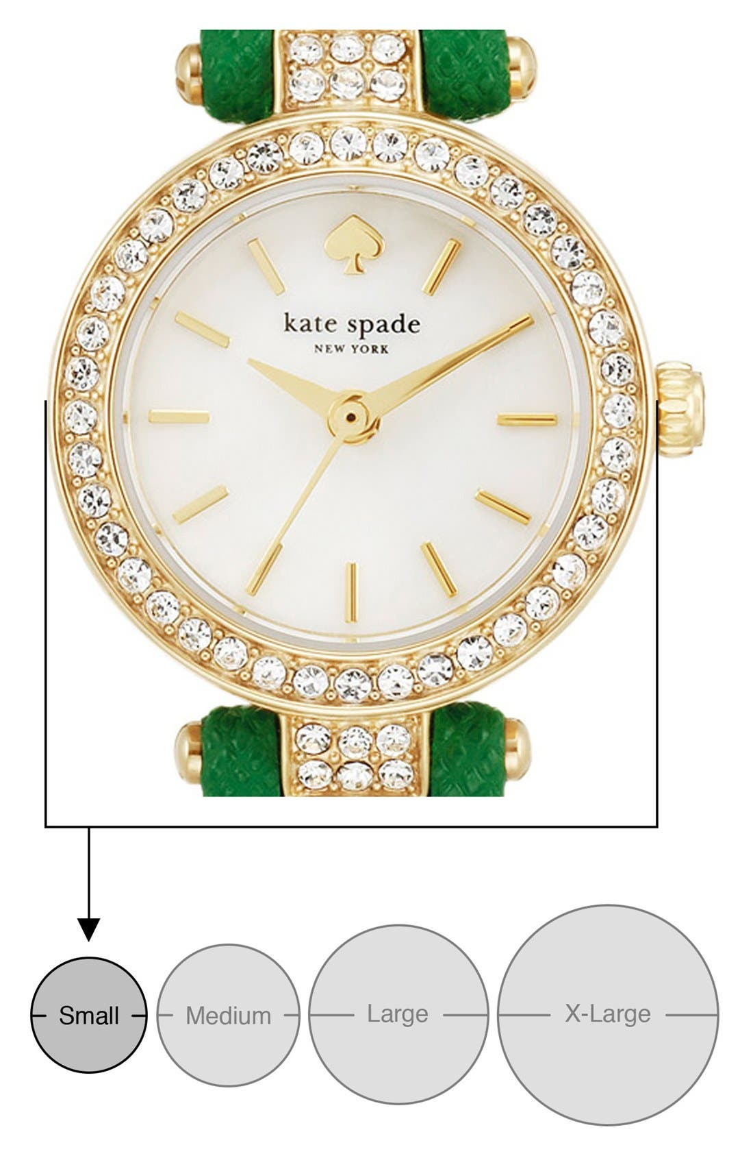 Alternate Image 5  - kate spade new york 'tiny metro' crystal bezel leather strap watch, 20mm