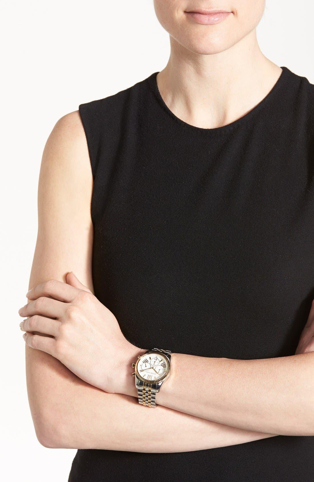 Alternate Image 4  - Michael Kors 'Lexington' Chronograph Bracelet Watch, 38mm